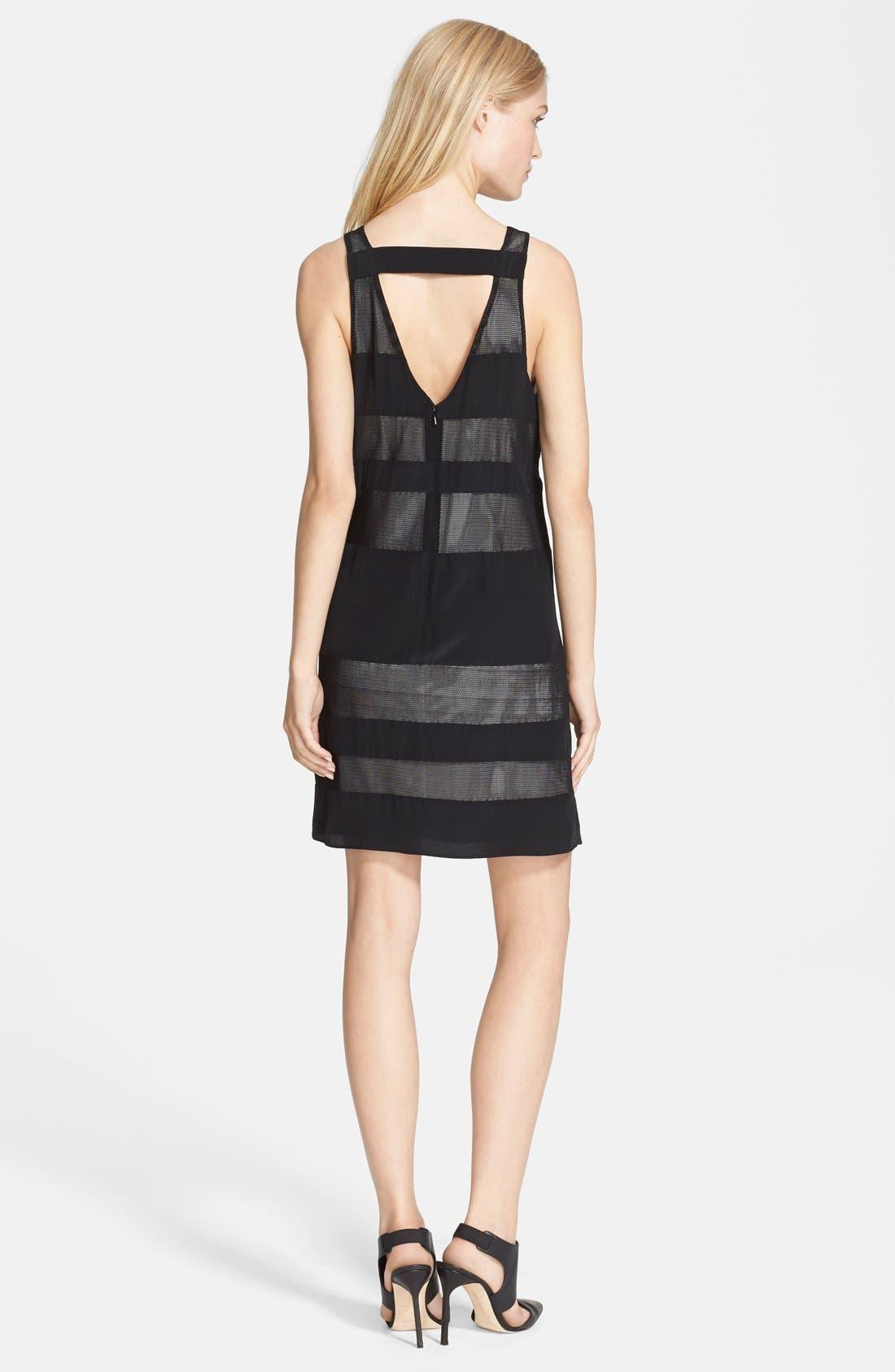Alternate Image 2  - Jay Godfrey 'Emmerson' Mesh Stripe Jersey Dress