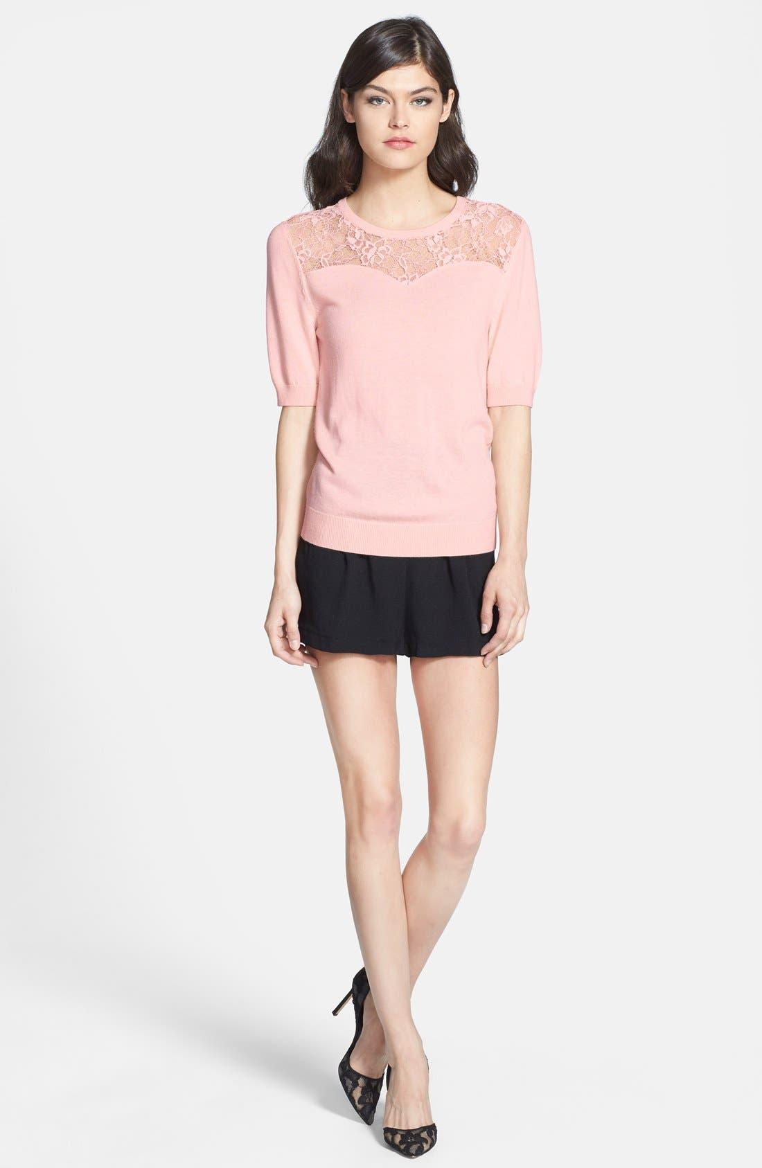 Alternate Image 4  - Chelsea28 Lace Yoke Sweater