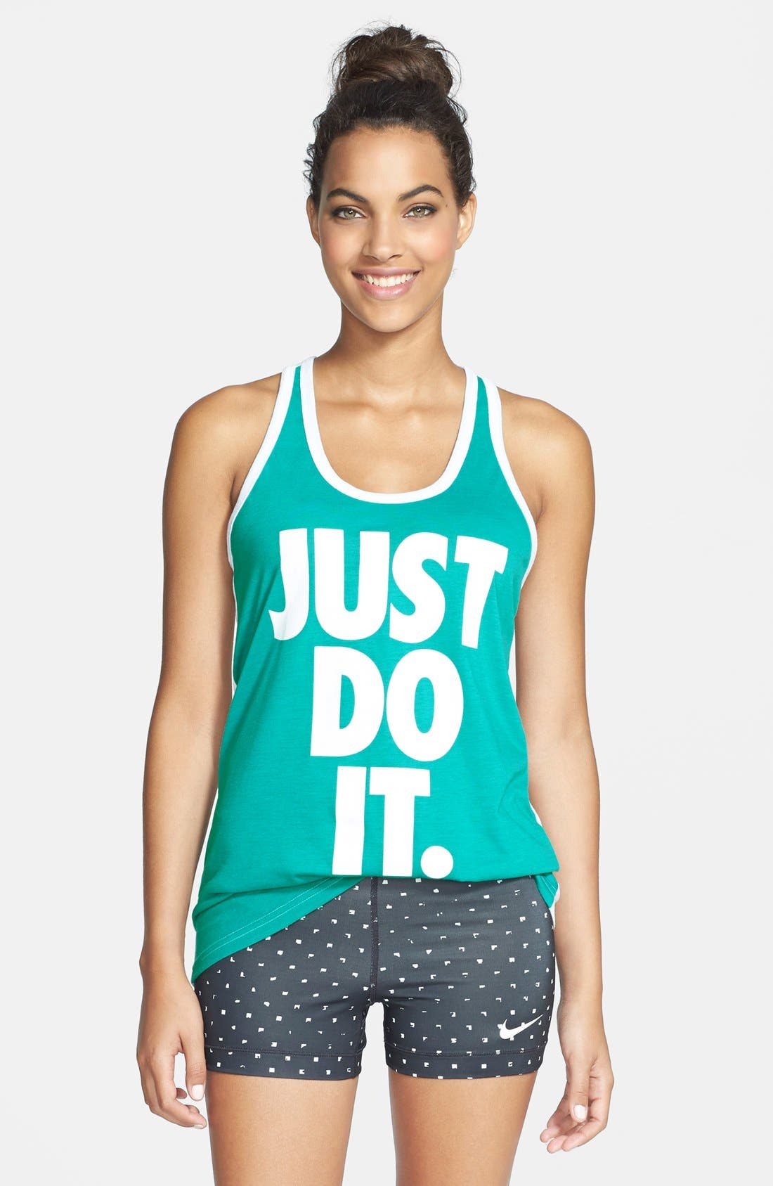 Alternate Image 1 Selected - Nike 'Just Do It' Dri-FIT Racerback Tank