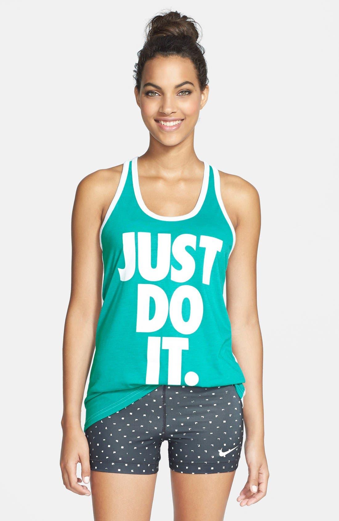 Main Image - Nike 'Just Do It' Dri-FIT Racerback Tank
