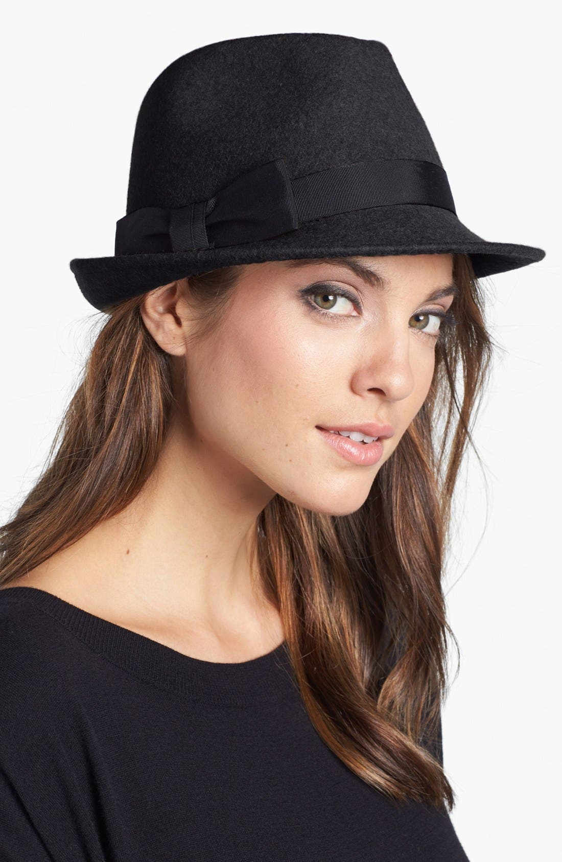 Alternate Image 1 Selected - Nordstrom Wool Felt Trilby Hat