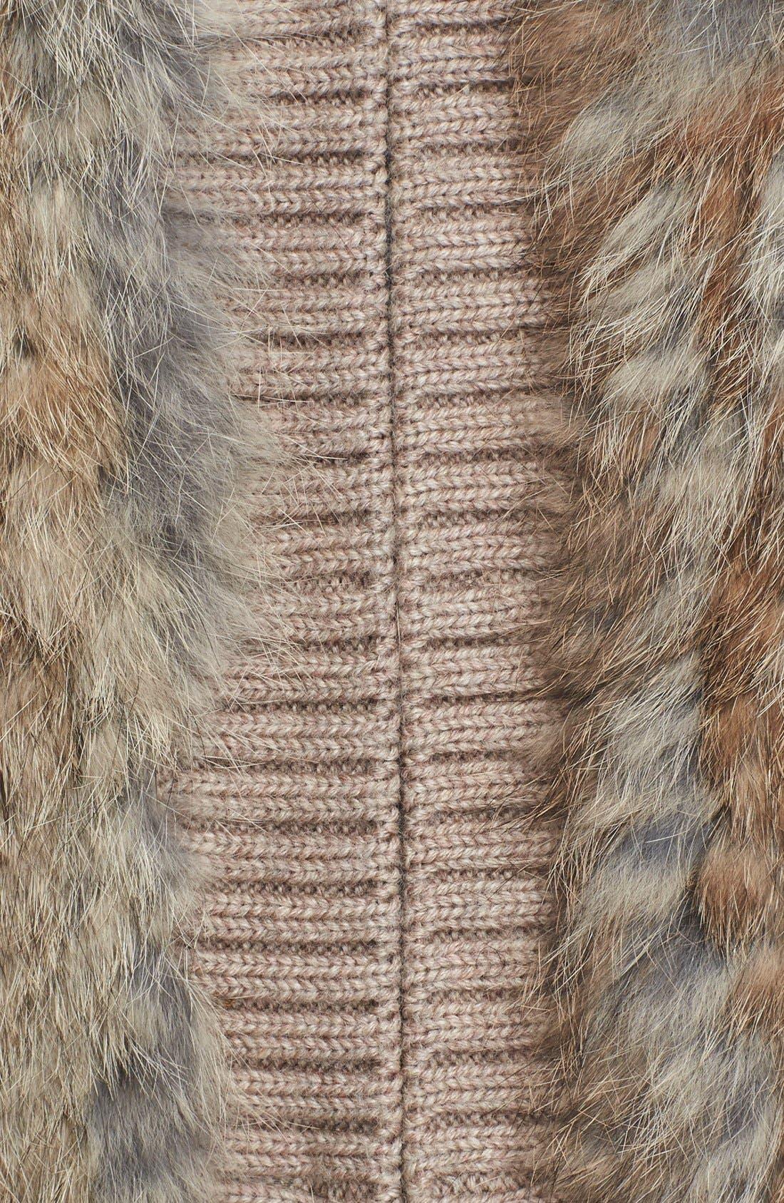Alternate Image 3  - Joie 'Ellera' Genuine Rabbit Fur Sleeveless Jacket