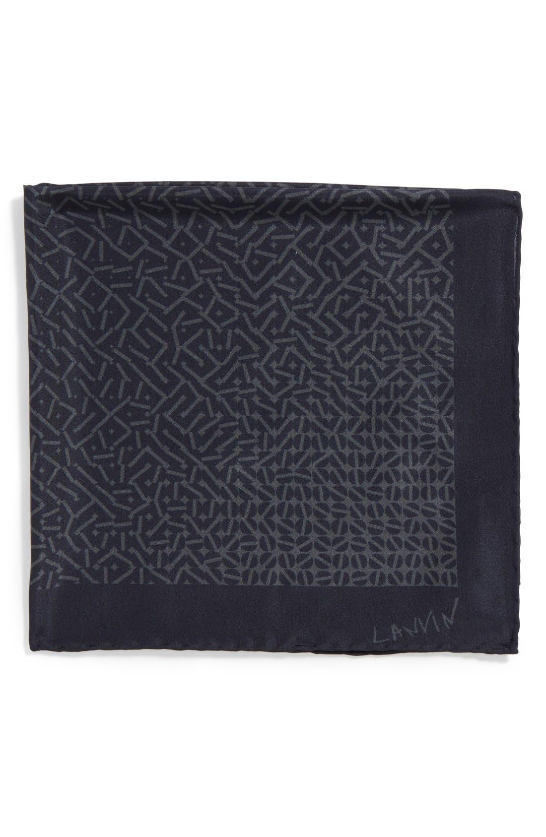 Main Image - Lanvin Print Pocket Square