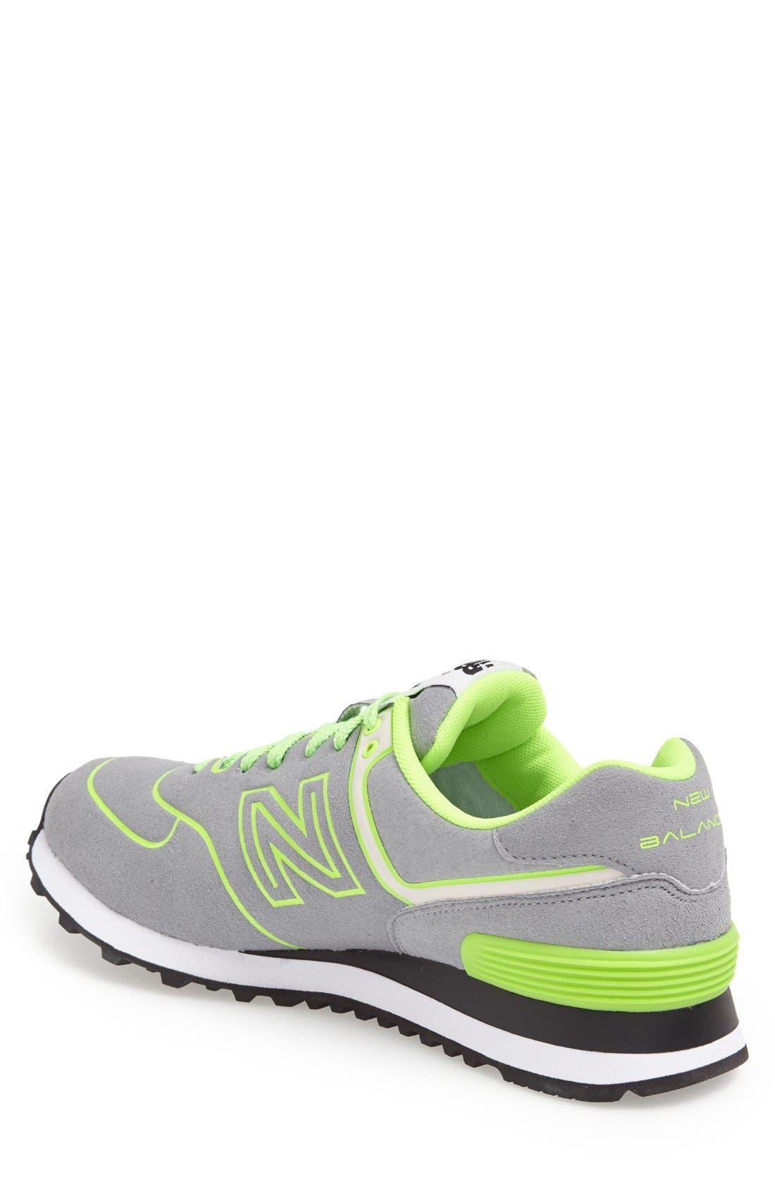 Alternate Image 2  - New Balance '574 Neon' Sneaker (Men)