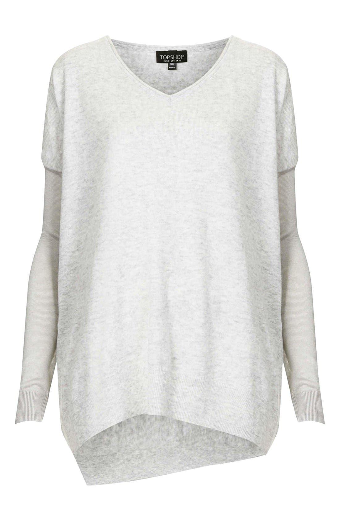Alternate Image 3  - Topshop Asymmetrical V-Neck Sweater