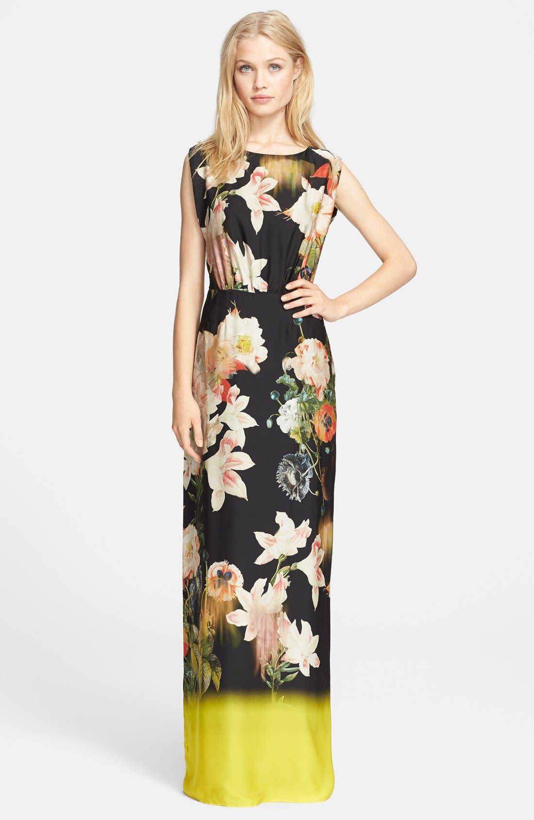 Alternate Image 1 Selected - Ted Baker London 'Jasmyne' Floral Print Maxi Dress