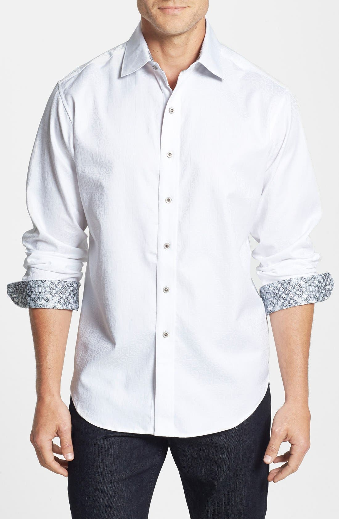 Alternate Image 1 Selected - ROBERT GRAHAM LONG SLEEVE WOVEN WINDSOR SPORTSHIRT