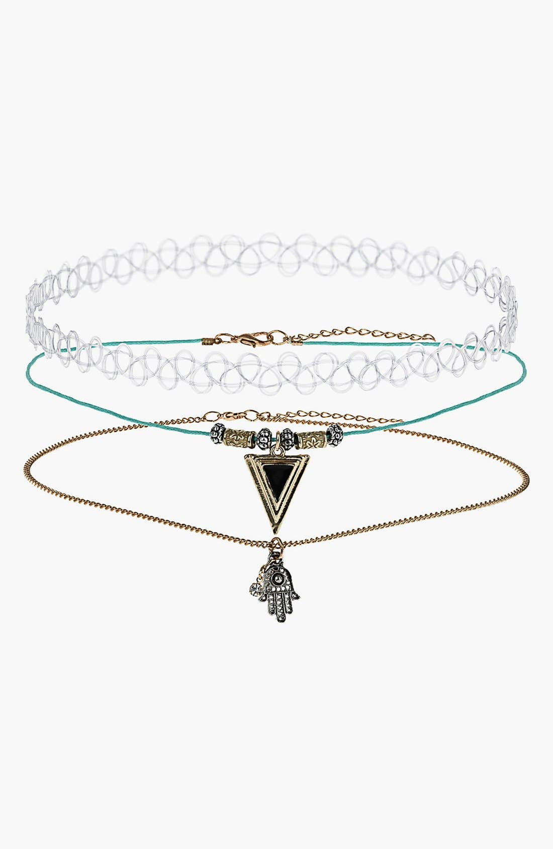 Alternate Image 1 Selected - Topshop Choker & Necklace Set