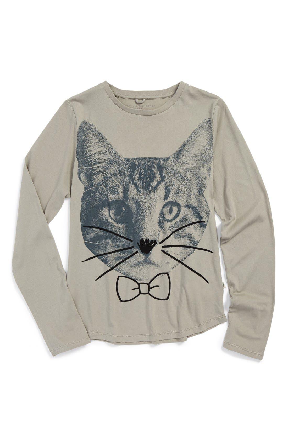 Alternate Image 1 Selected - Stella McCartney Kids 'Cat' Long Sleeve Tee (Toddler Girls, Little Girls & Big Girls)