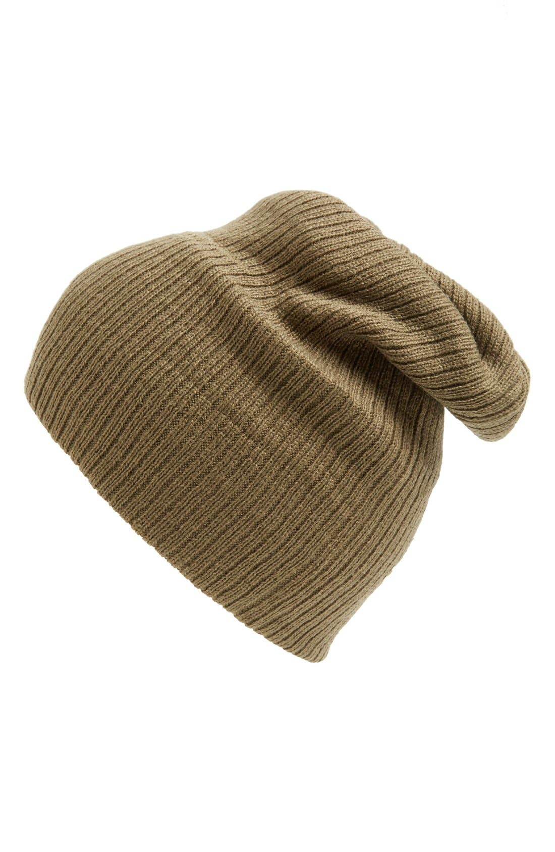 Main Image - BP. Slouchy Ribbed Beanie