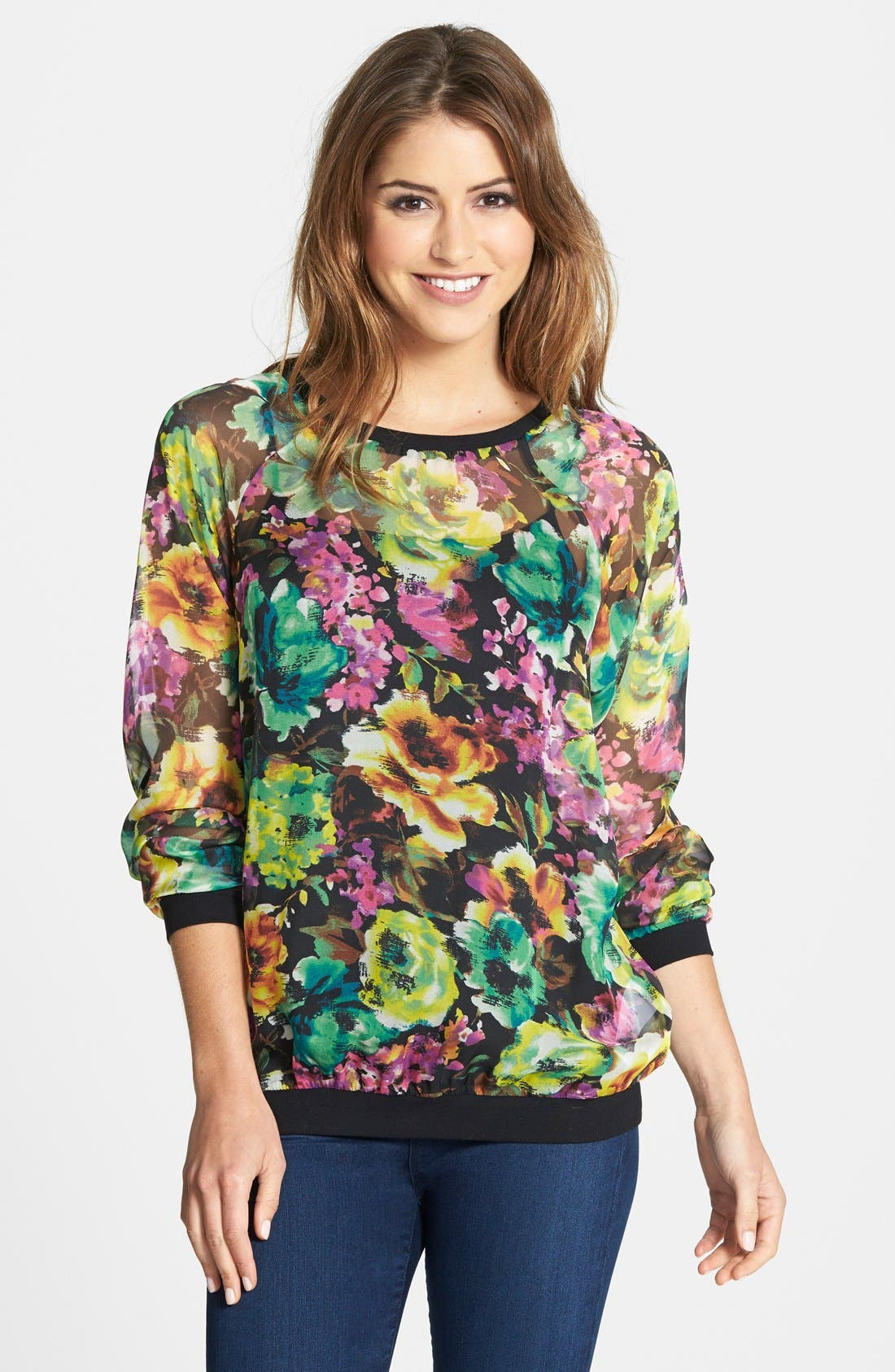 Main Image - KUT from the Kloth 'Naomi' Floral Print Top