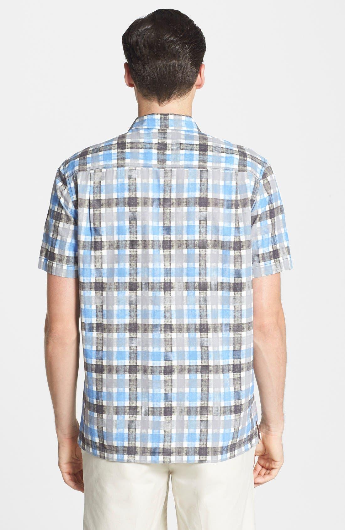 Alternate Image 2  - Tommy Bahama 'Plaid Impressions' Island Modern Fit Silk & Cotton Camp Shirt