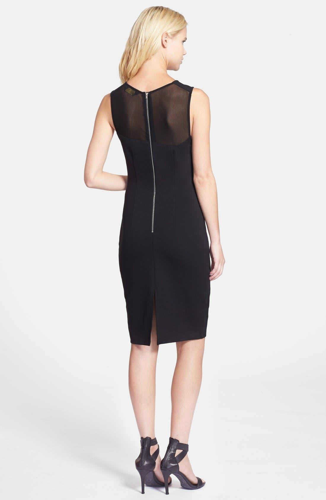 Alternate Image 2  - Elliatt 'Secrets' Illusion Yoke Ponte Body-Con Dress
