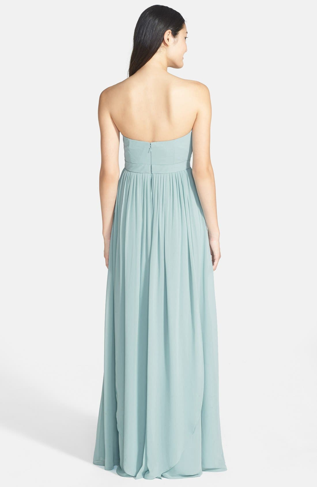 Alternate Image 4  - Jenny Yoo 'Aidan' Convertible Strapless Chiffon Gown