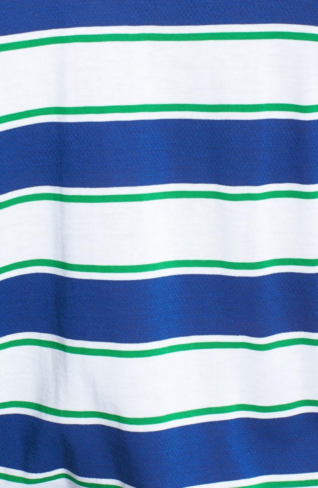 Alternate Image 3  - BOSS Green 'Paddy 1' Trim Fit Stripe Mesh Cotton Polo