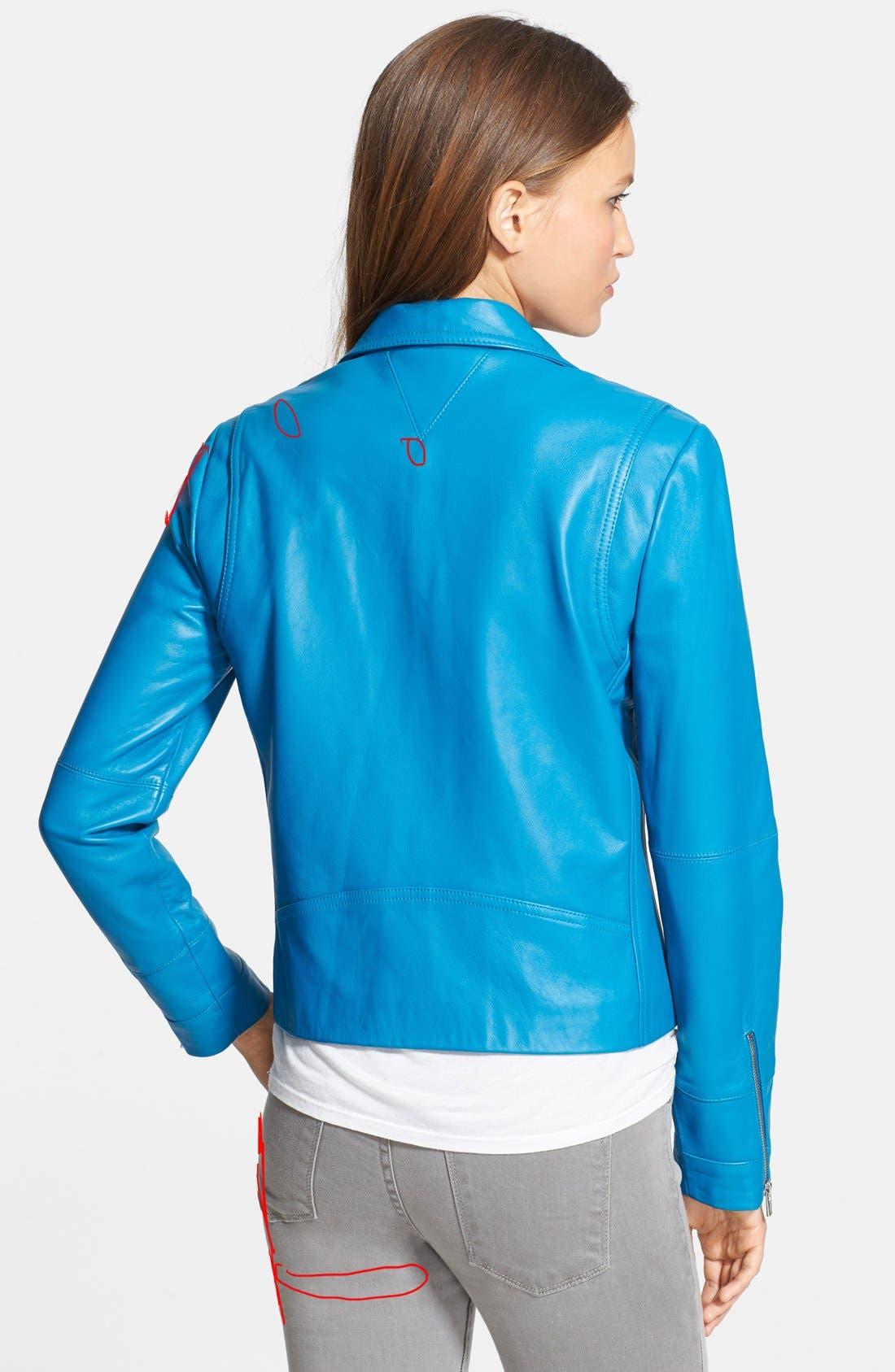 Alternate Image 2  - Veda Leather Moto Jacket