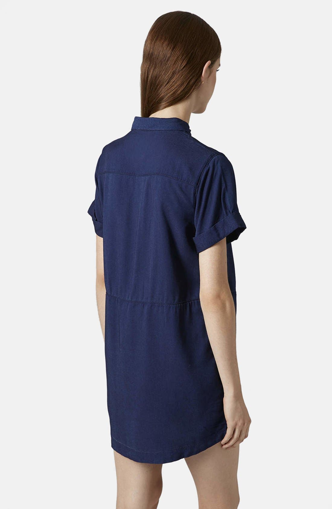 Alternate Image 2  - Topshop Denim Shirtdress