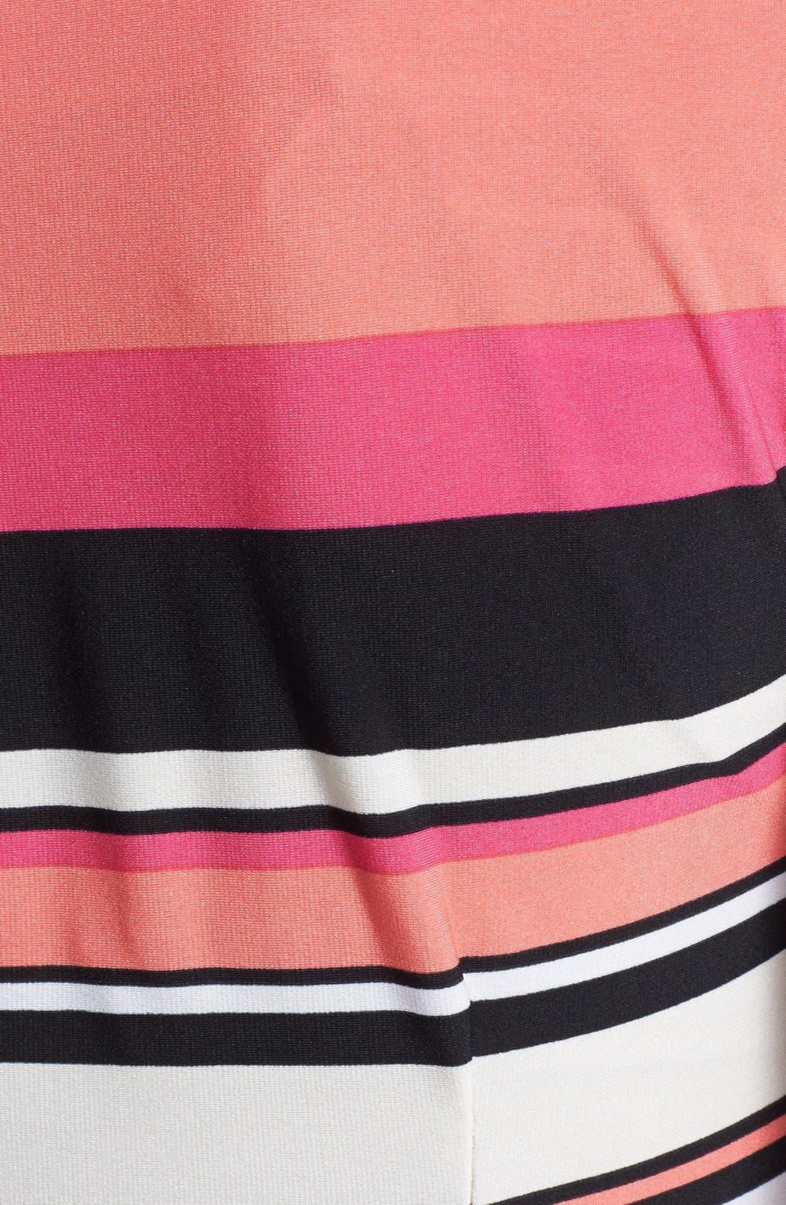 Alternate Image 3  - Taylor Dresses Side Tie Stripe Jersey Dress (Petite)