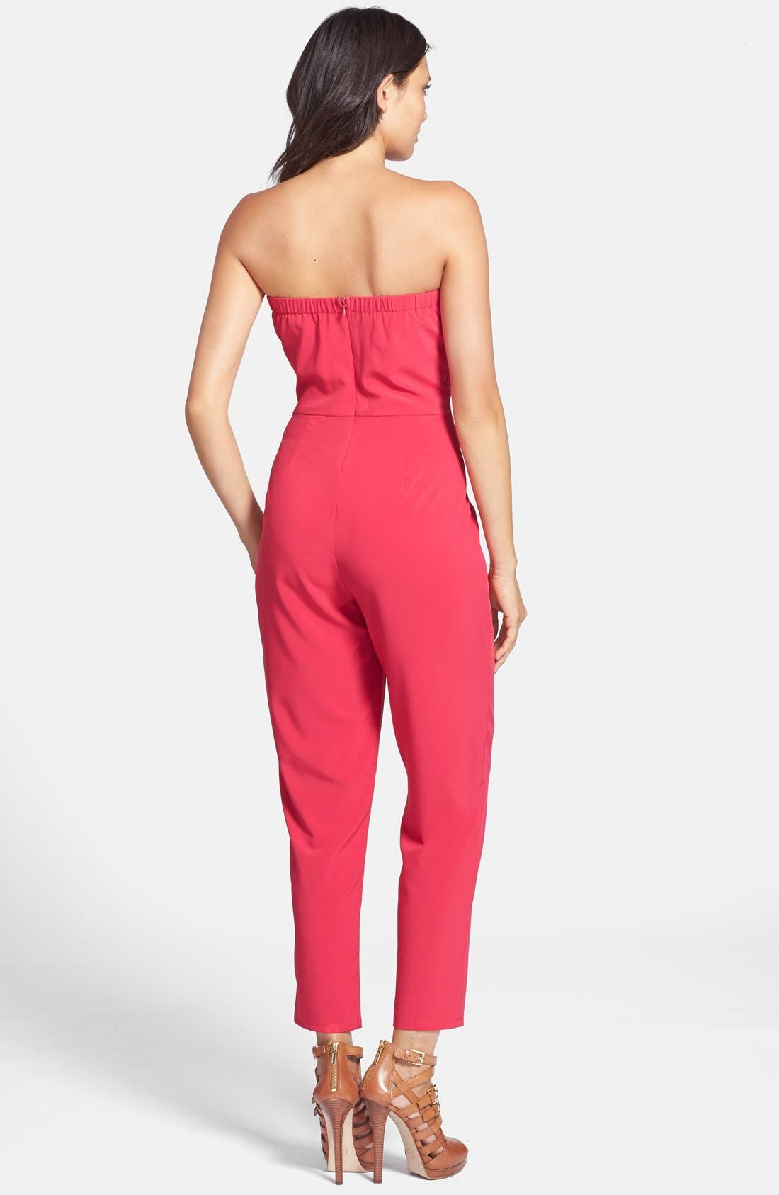 Alternate Image 2  - Rules of Etiquette 'Bow Wrap' Jumpsuit