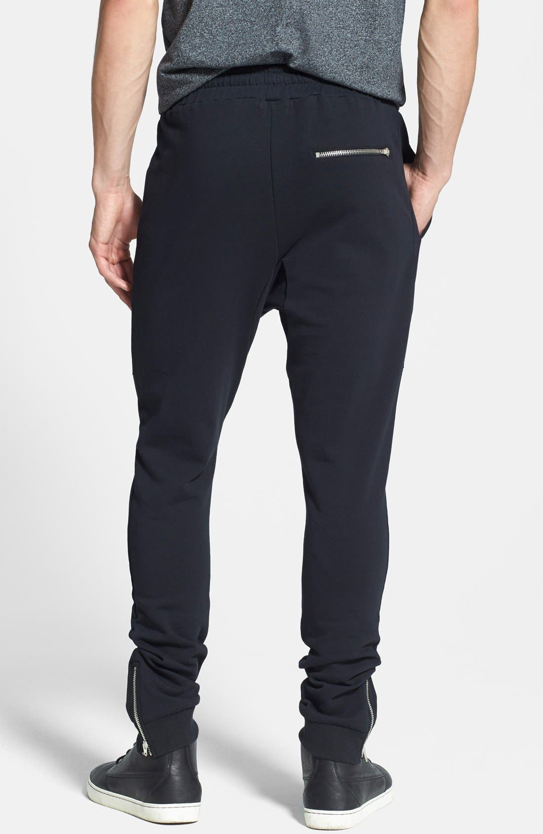 Alternate Image 2  - Topman Zip Hem Jogger Pants