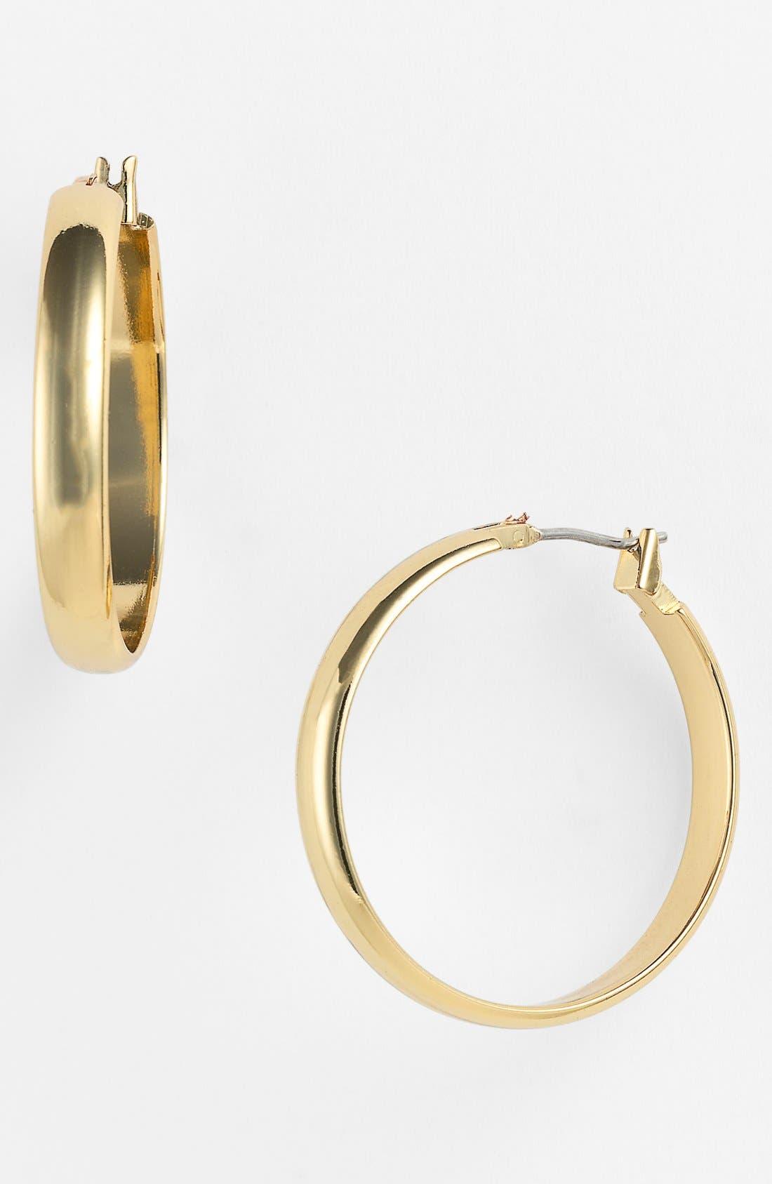 Alternate Image 1 Selected - Anne Klein Wide Hoop Earrings