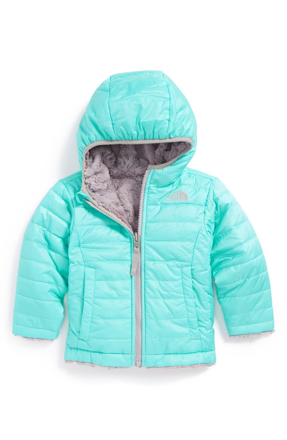 Main Image - The North Face Mossbud Swirl Water Repellent Reversible Jacket (Toddler Girls)