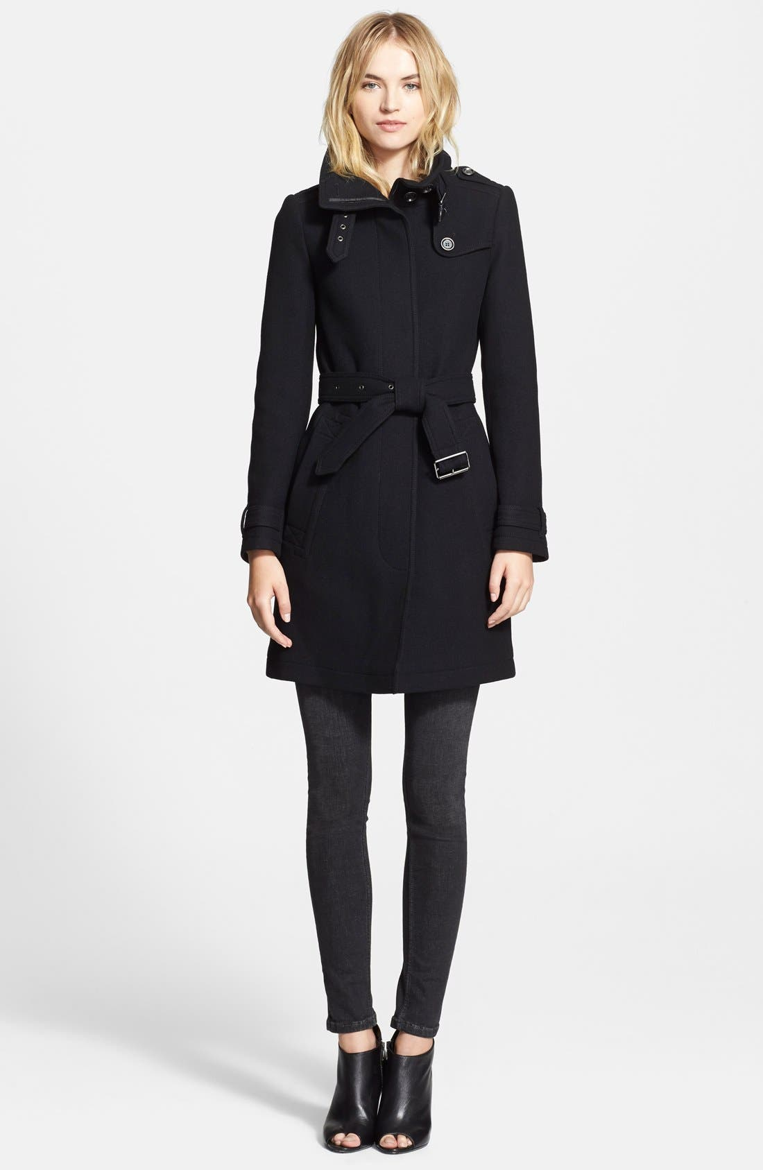 Alternate Image 3  - Burberry Brit 'Rushworth' Belted Wool Blend Coat