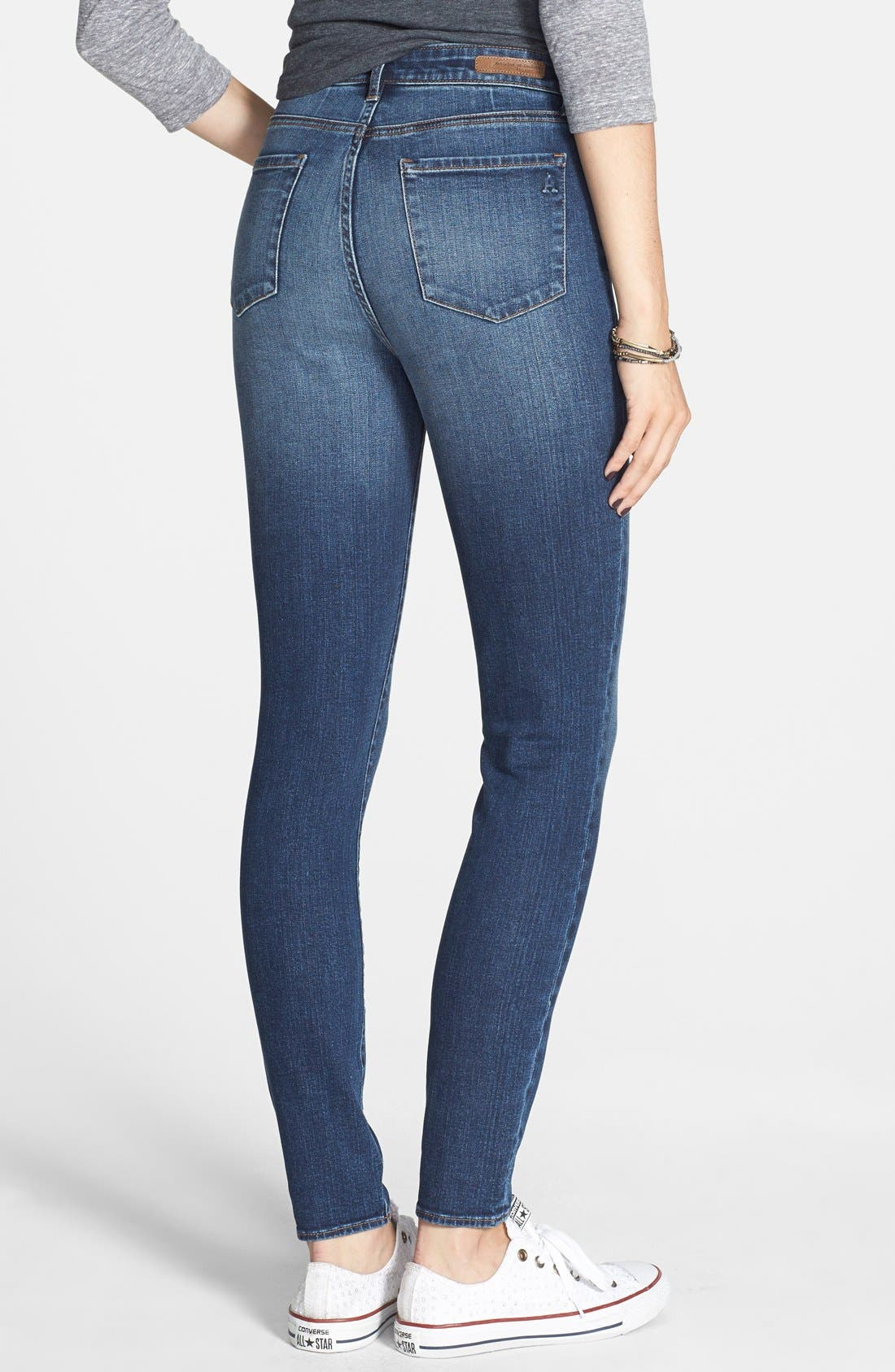 Alternate Image 2  - Articles of Society 'Halley' High Waist Skinny Jeans (Twilight Wash)
