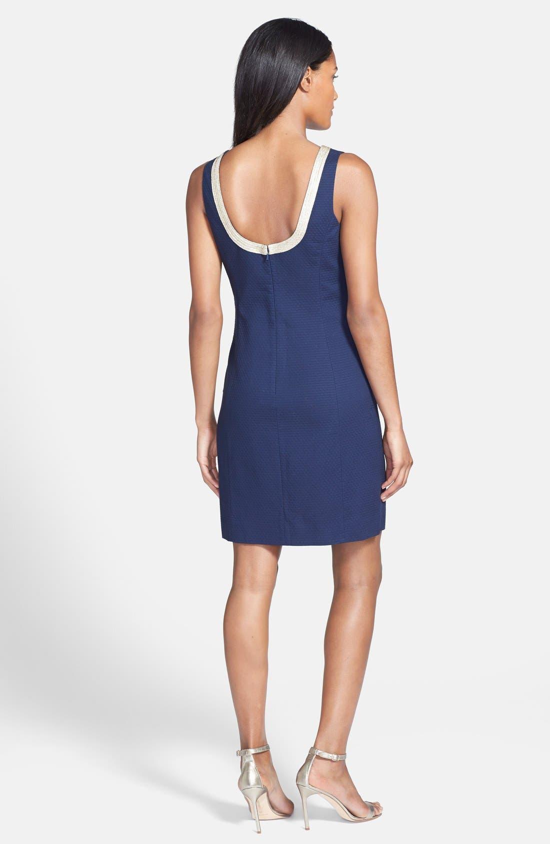Alternate Image 2  - Lilly Pulitzer® 'Janice' Soutache Cotton Shift Dress