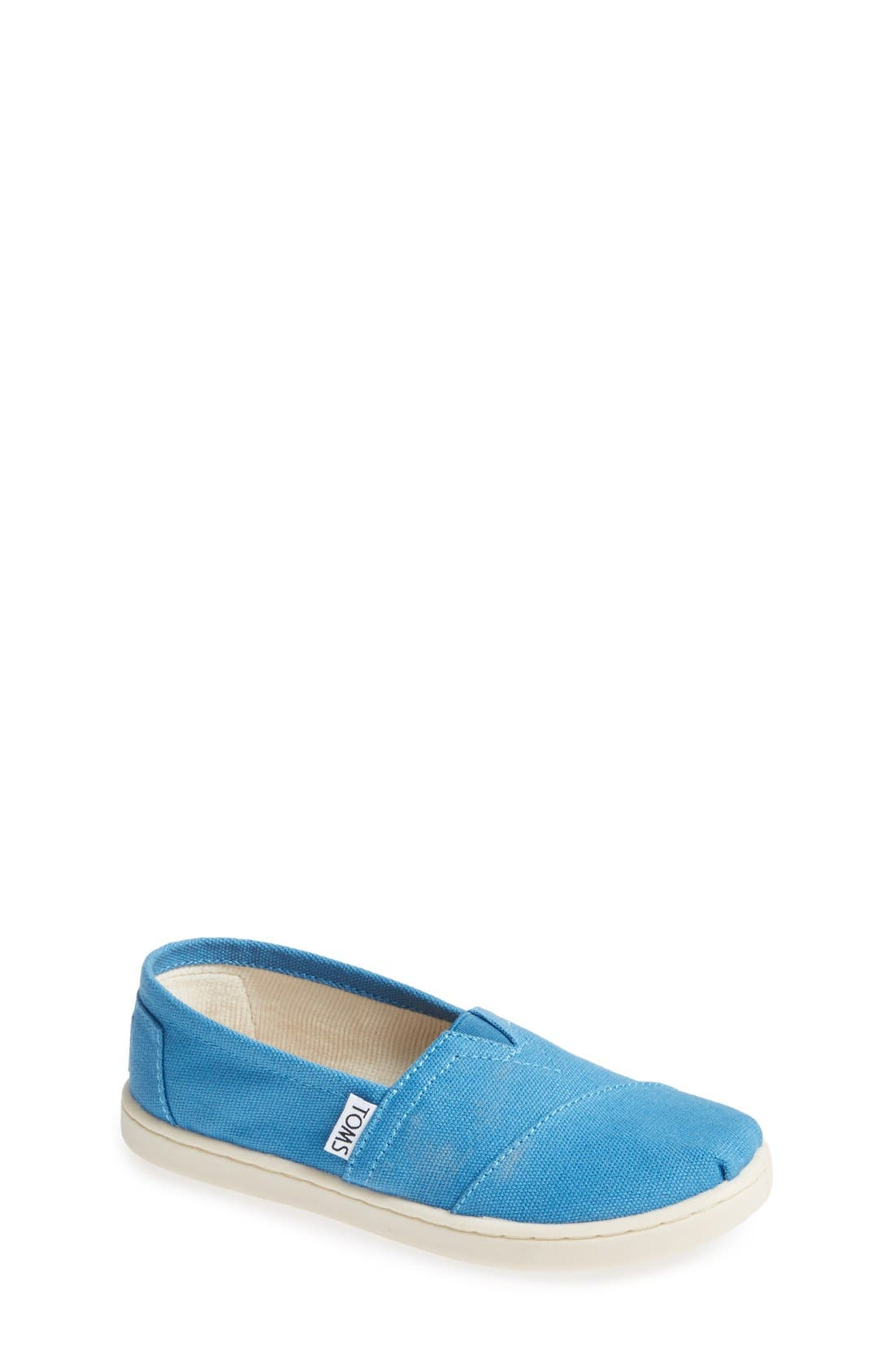 Main Image - TOMS 'Classic - Youth' Canvas Slip-On (Toddler, Little Kid & Big Kid)