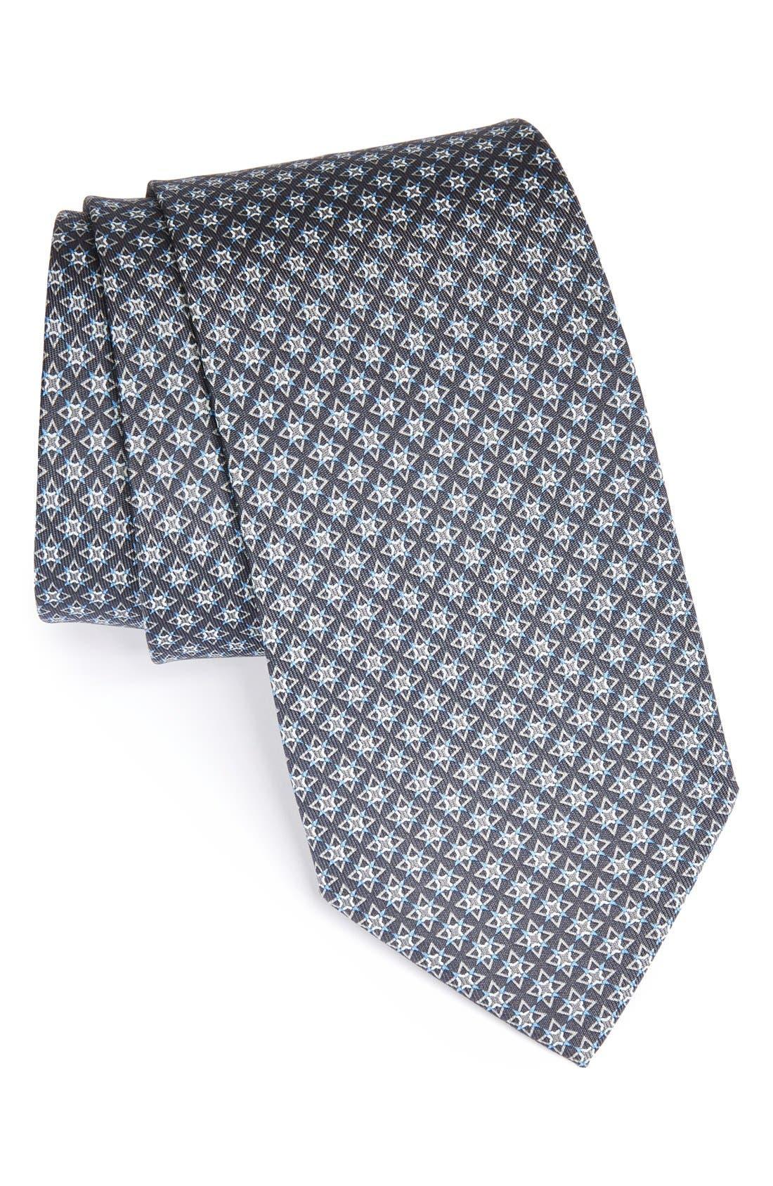 Alternate Image 1 Selected - Salvatore Ferragamo Star Print Silk Tie