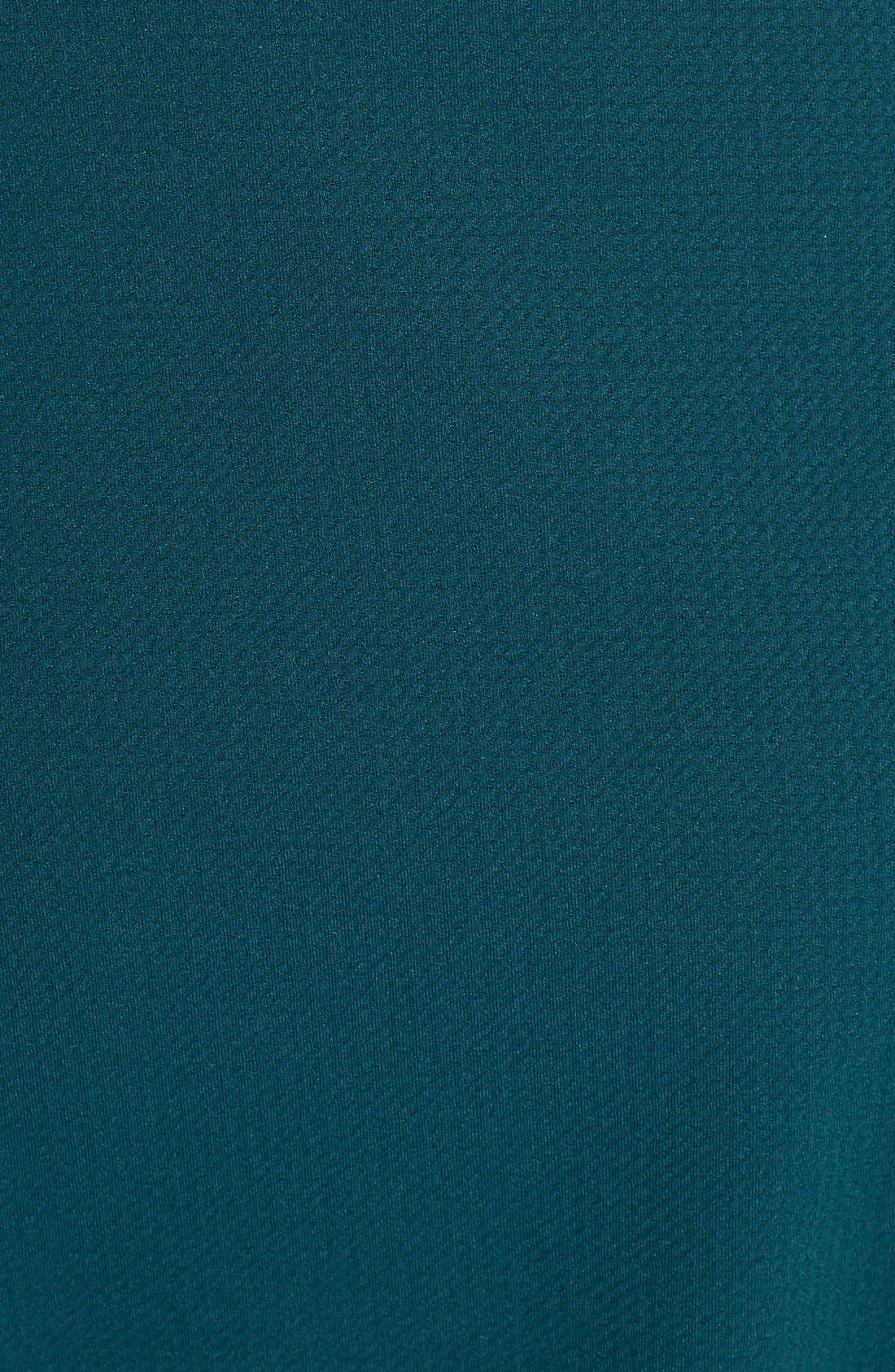 Alternate Image 4  - Painted Threads Flower Hem Textured Skater Dress (Juniors)