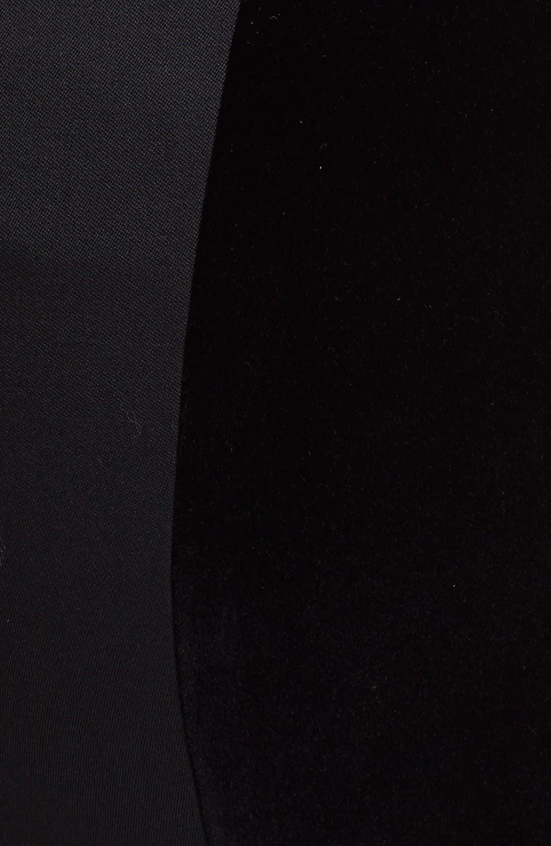 Alternate Image 6  - Alexander McQueen Velvet & Grain de Poudre Crop Pants