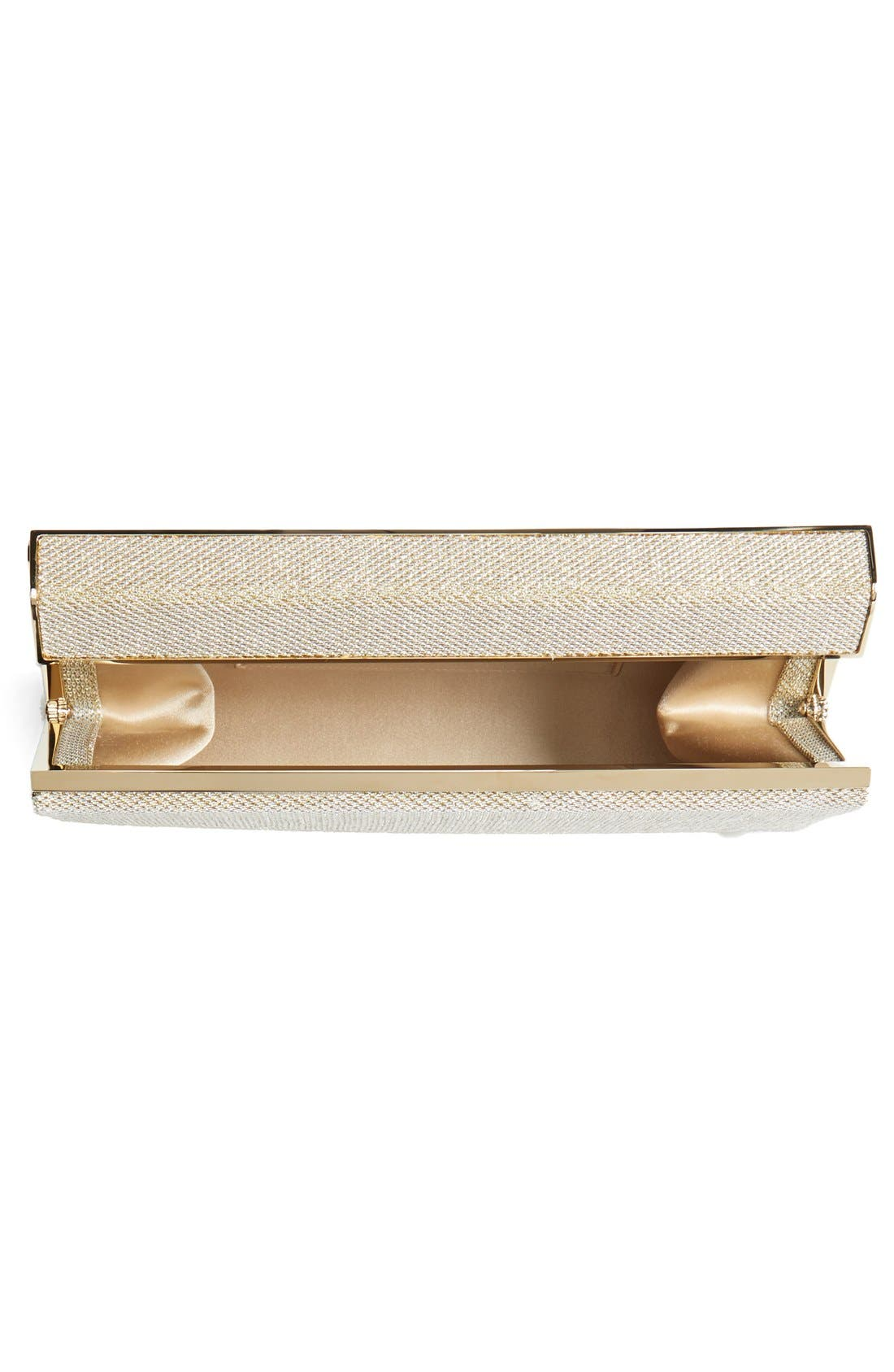 Alternate Image 3  - Jimmy Choo 'Cayla' Lamé Glitter Clutch