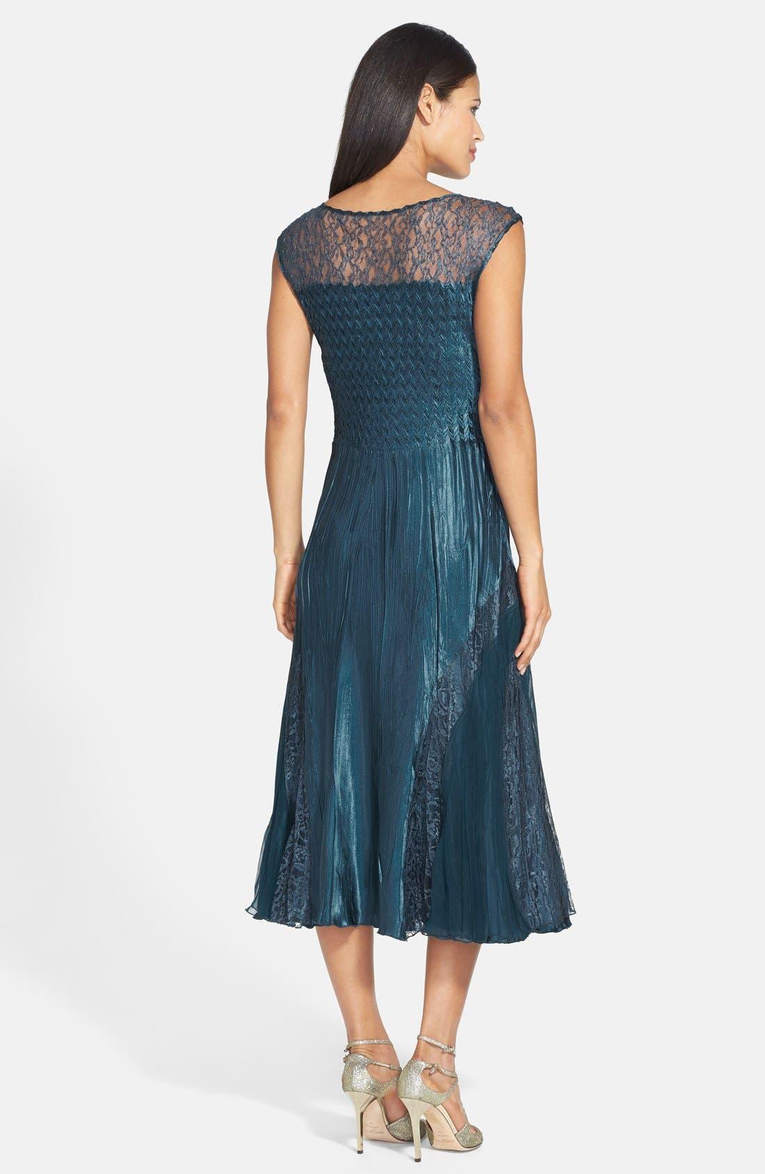 Alternate Image 2  - Komarov Lace Trim Charmeuse Dress & Jacket