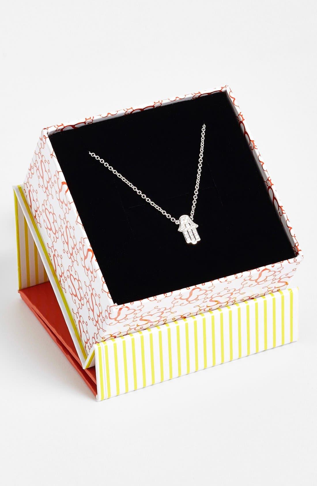 Alternate Image 3  - Sugar Bean Jewelry Pavé Hamsa Pendant Necklace