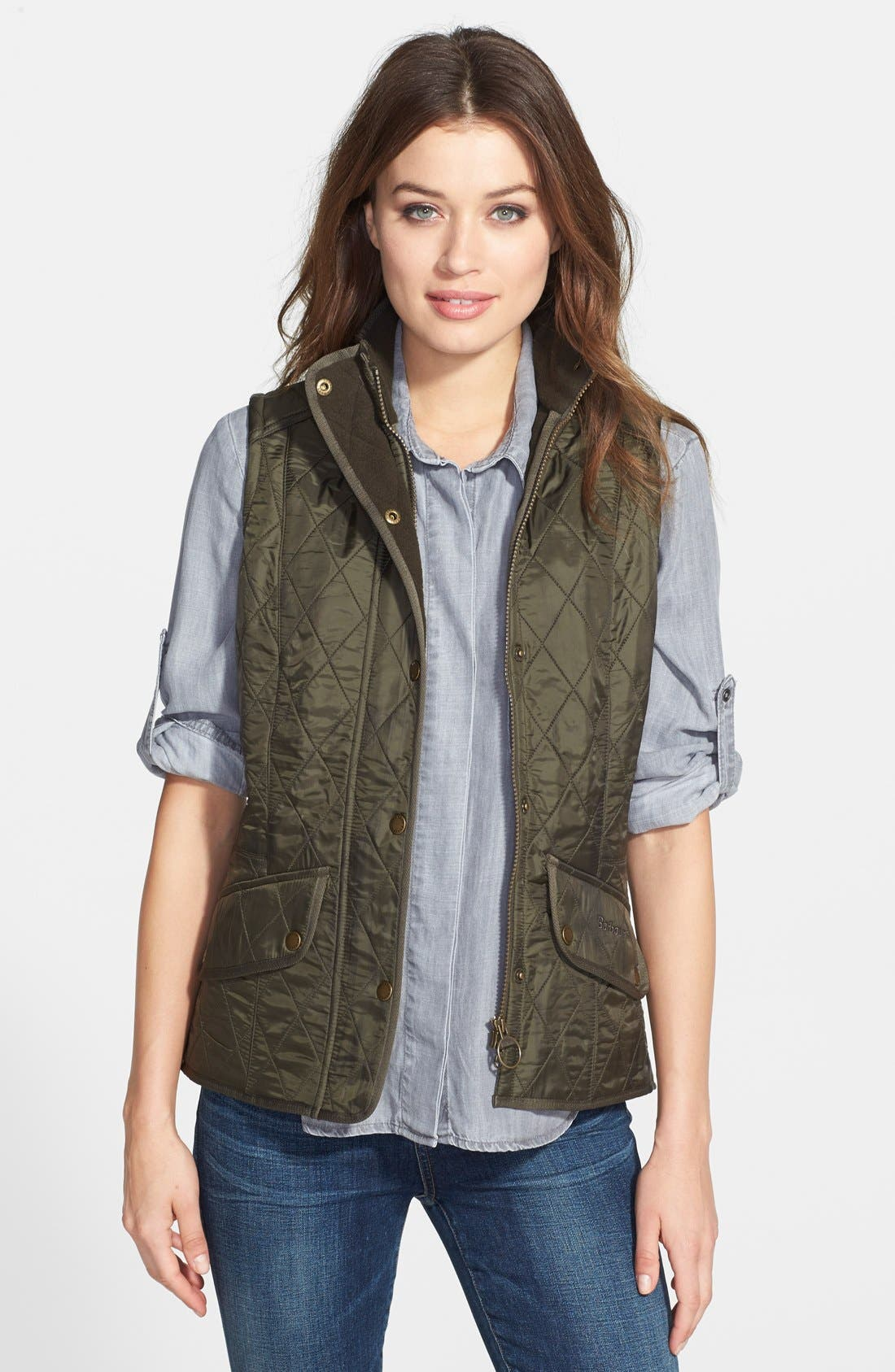 Main Image - Barbour 'Cavalry' Quilted Vest