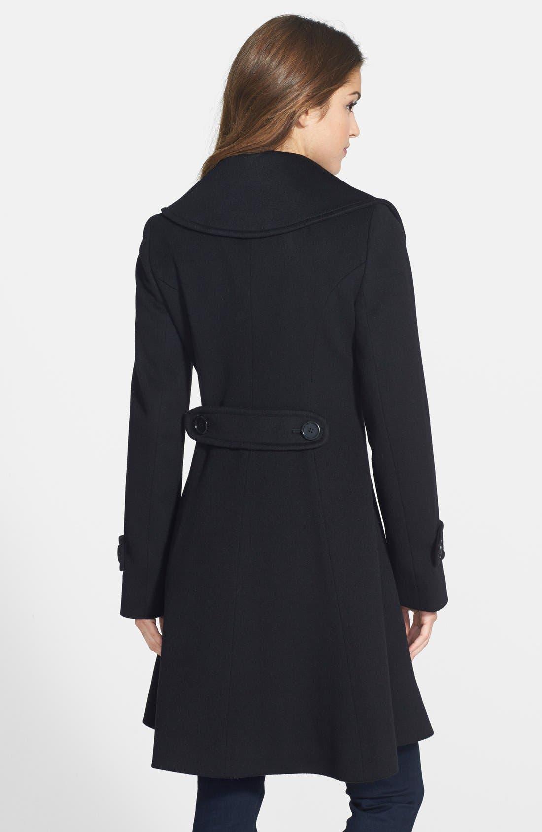 Alternate Image 2  - Fleurette Loro Piana Wool Princess Coat (Petite) (Nordstrom Exclusive)