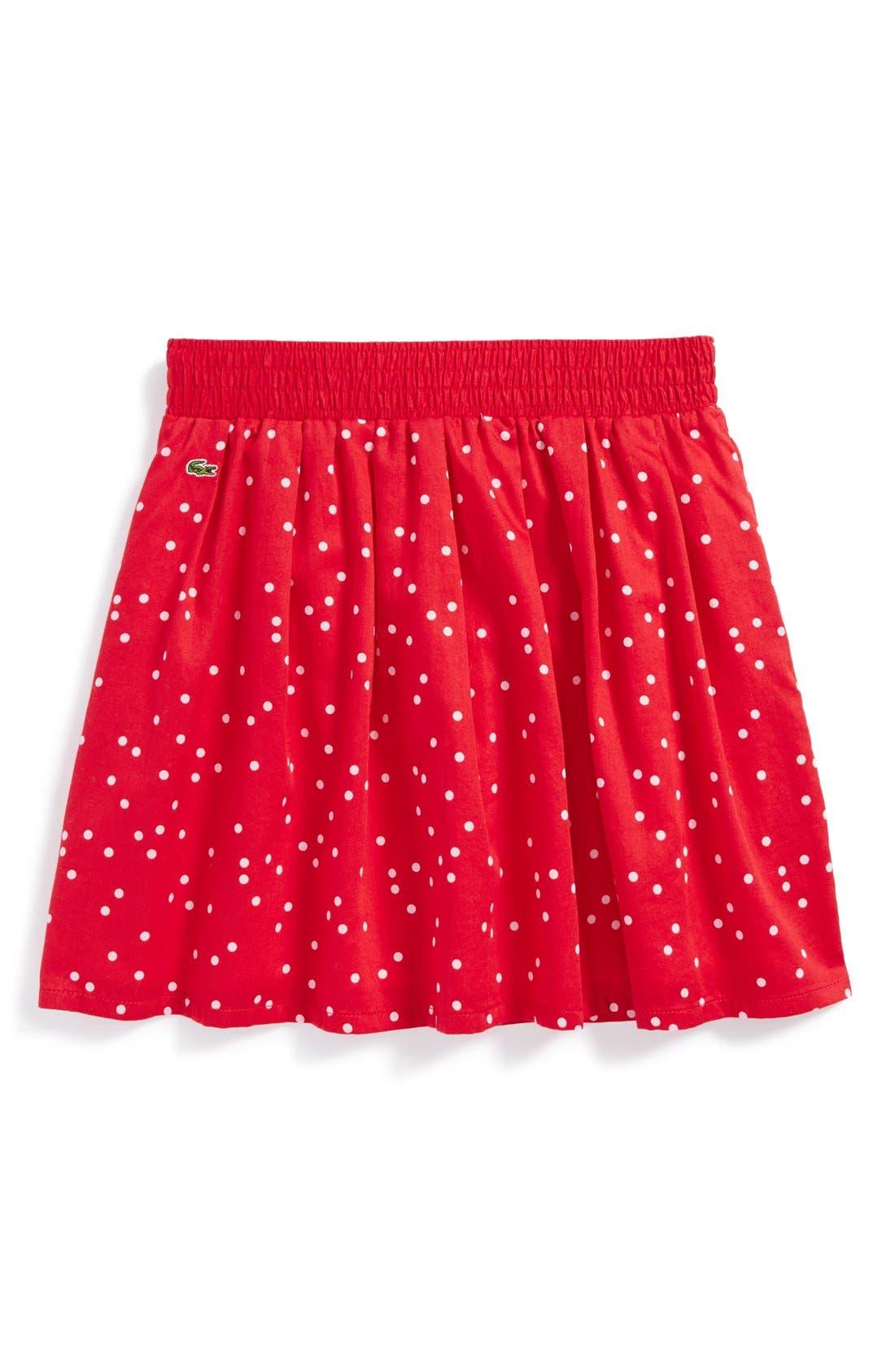 Main Image - Lacoste Dot Skirt (Big Girls)
