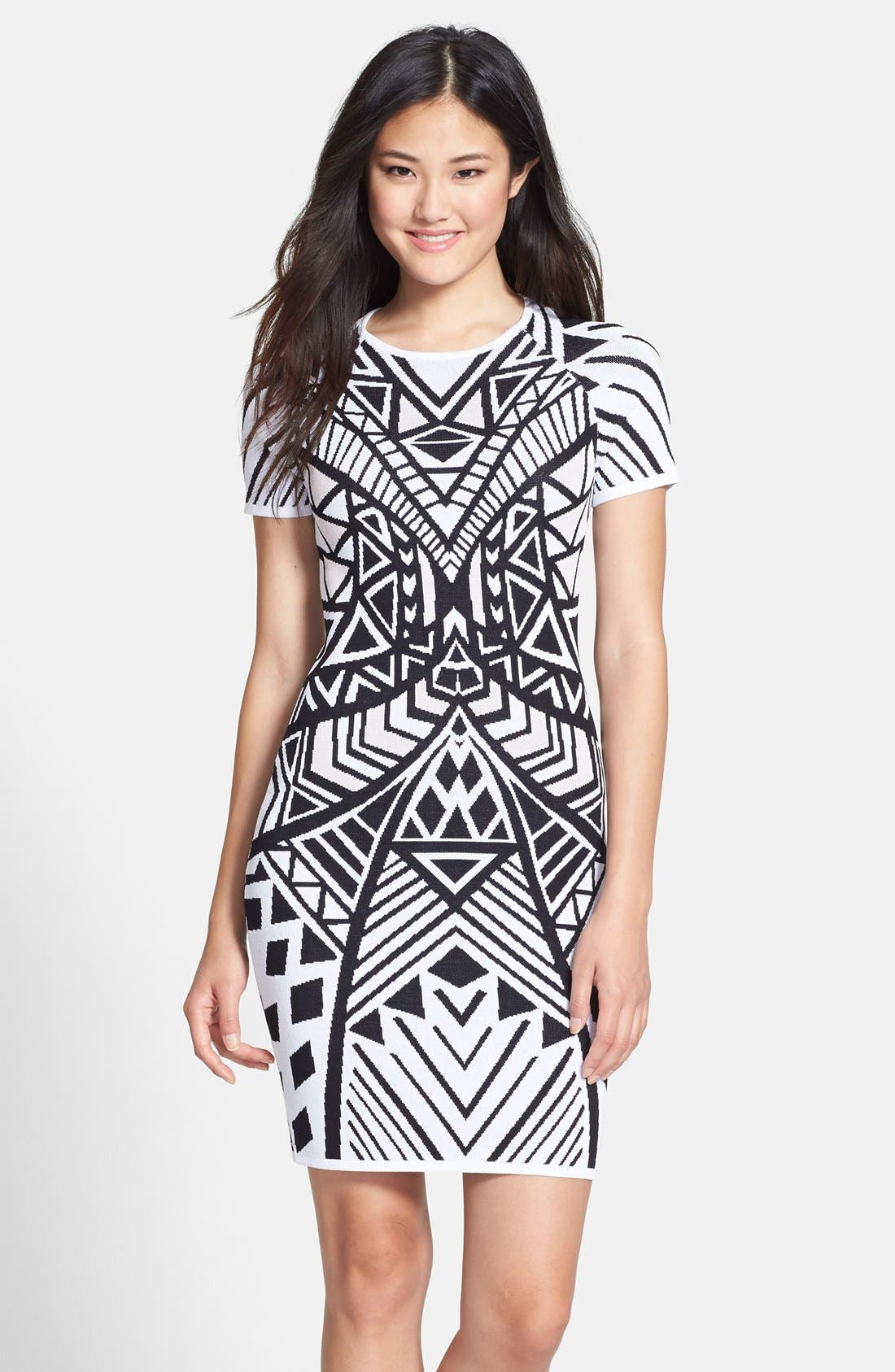 Main Image - Charlie jade Geo Knit Body-Con Dress