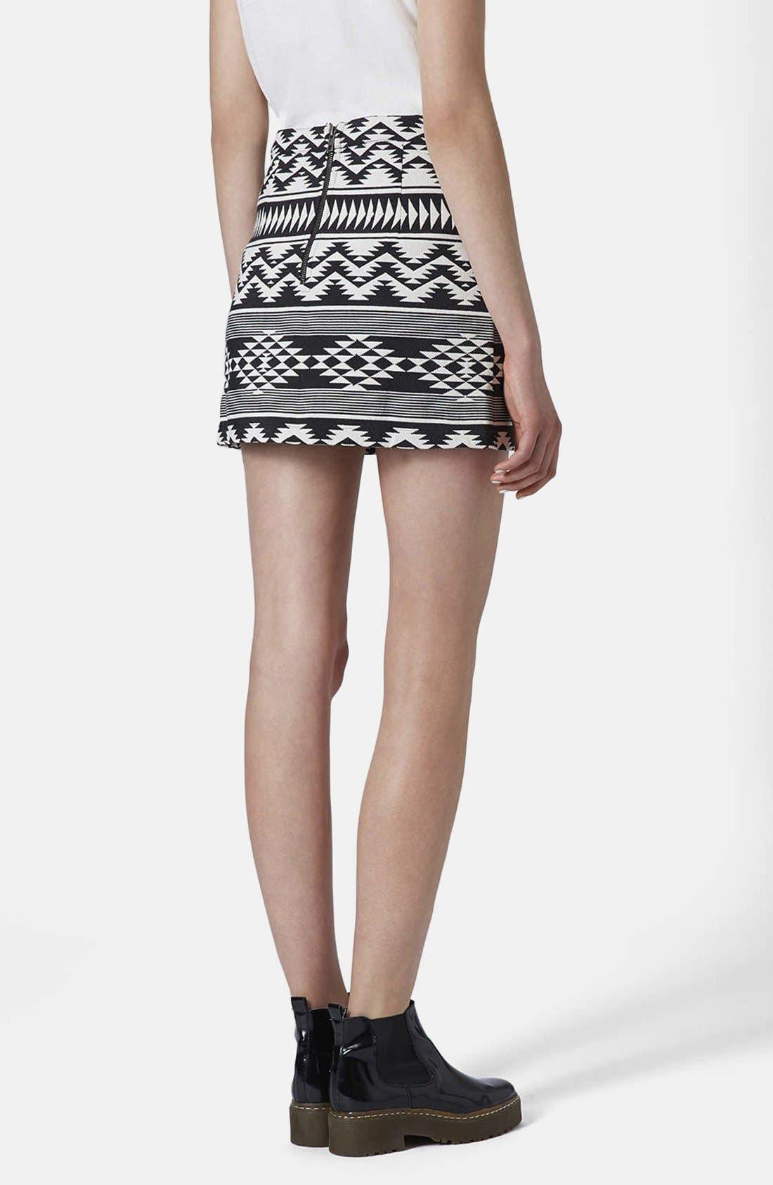 Alternate Image 2  - Topshop Geo Print A-Line Skirt
