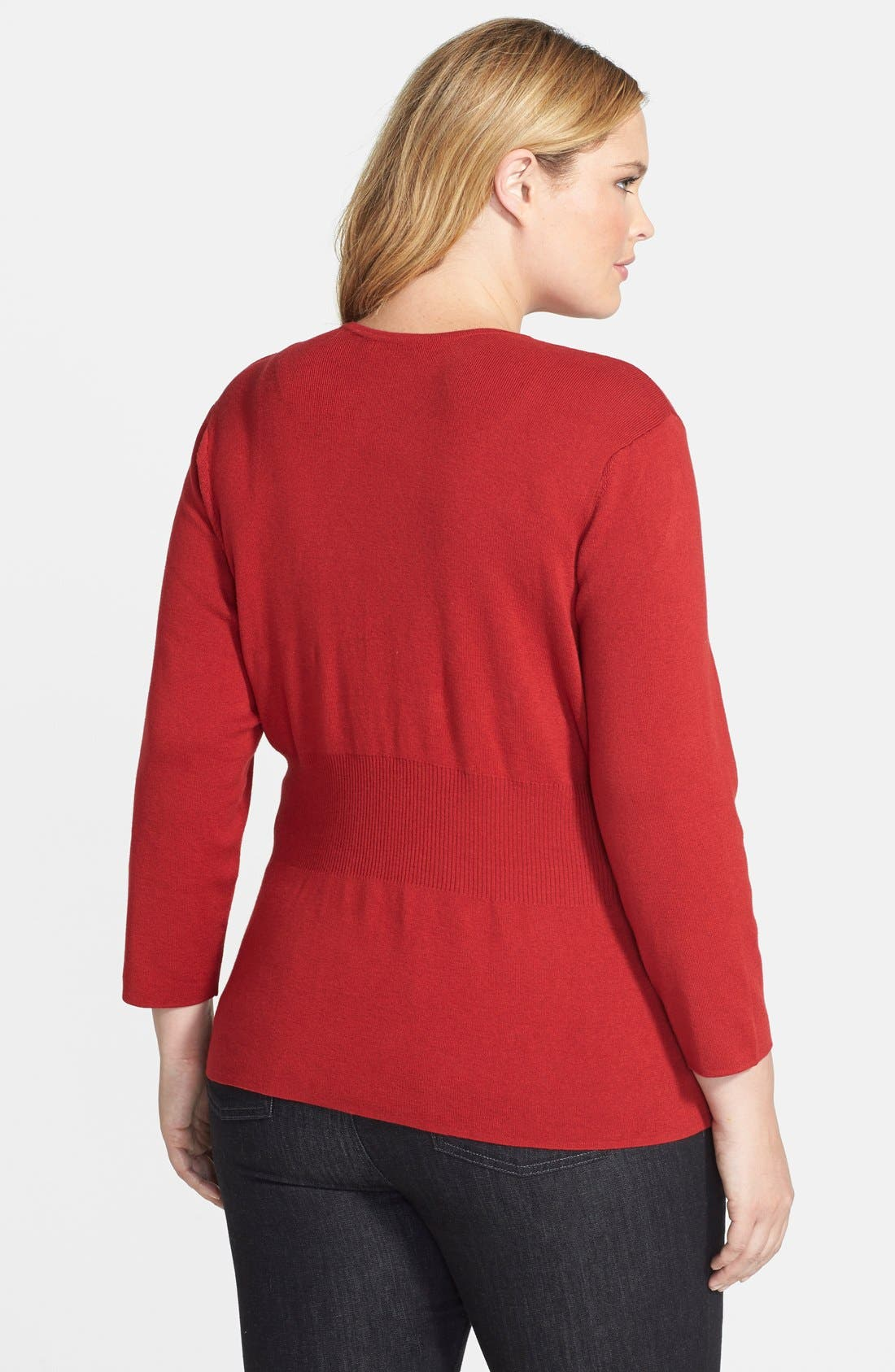 Alternate Image 2  - NIC+ZOE 'Back of the Chair' Cardigan (Plus Size)