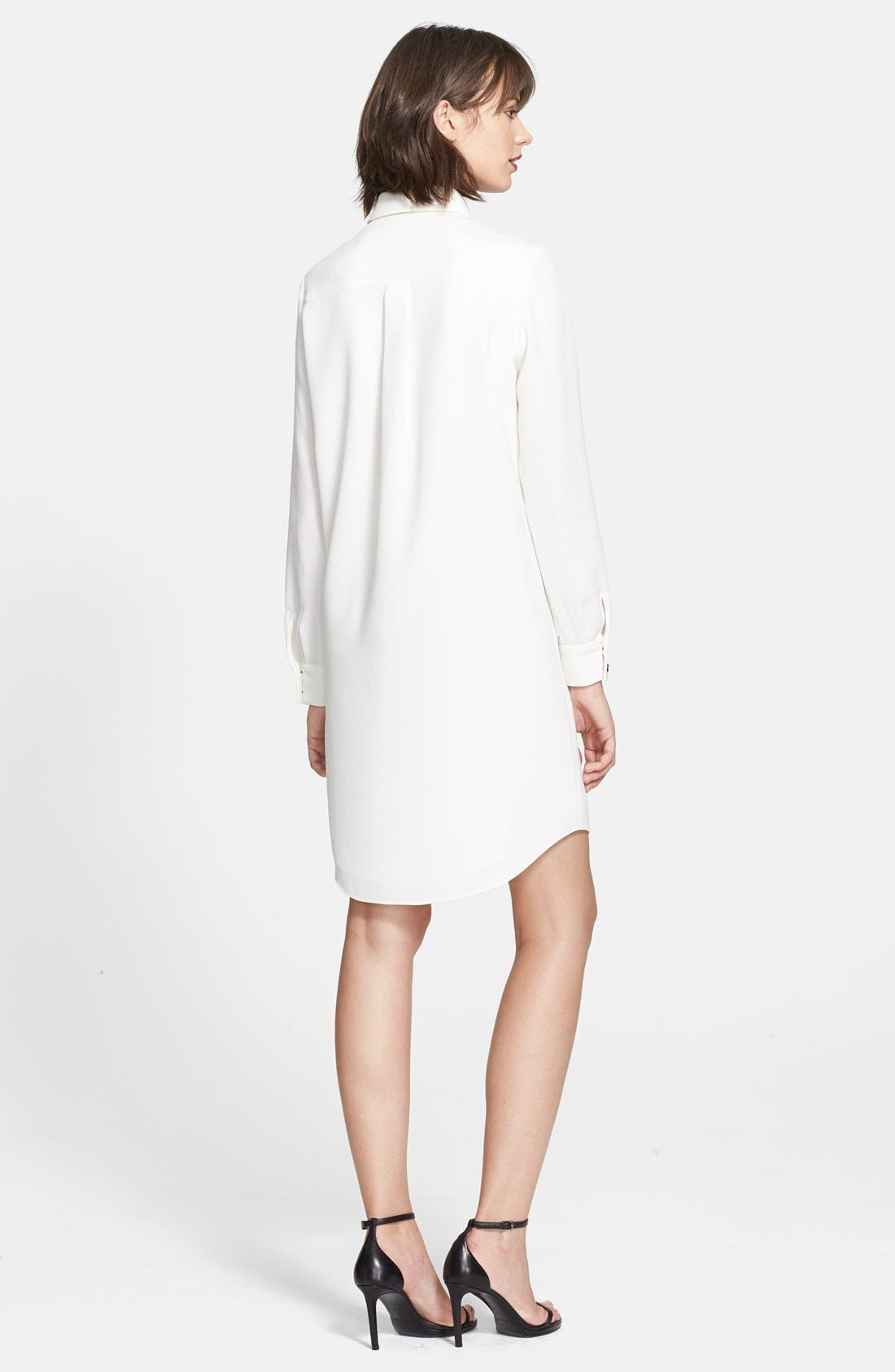 Alternate Image 2  - kate spade new york 'griffin' silk tie shirtdress