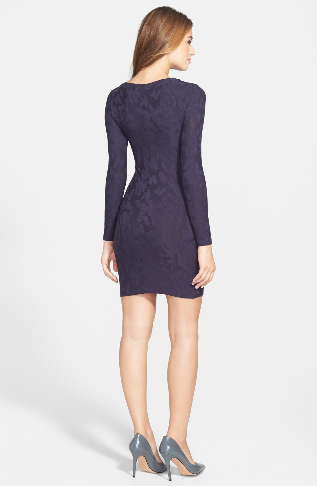 Alternate Image 2  - French Connection Camouflage Jacquard Body-Con Dress