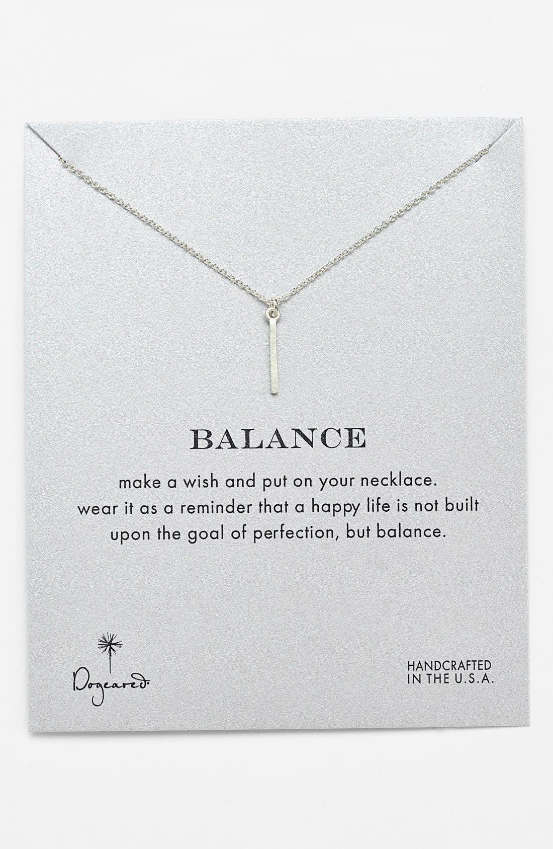 Alternate Image 1 Selected - Dogeared 'Reminder - Balance' Boxed Pendant Necklace