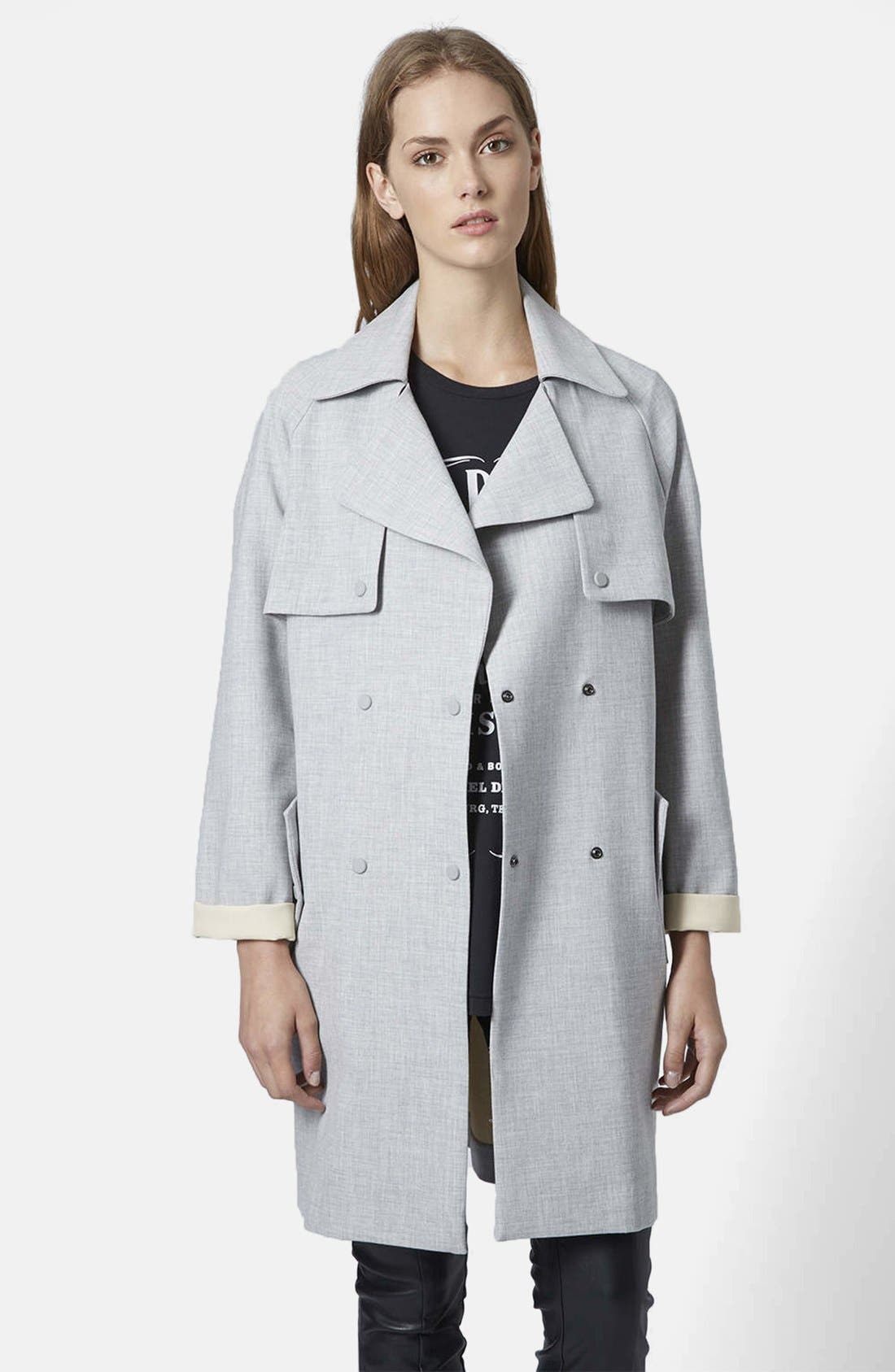 Main Image - Topshop Soft Bonded Trench Coat