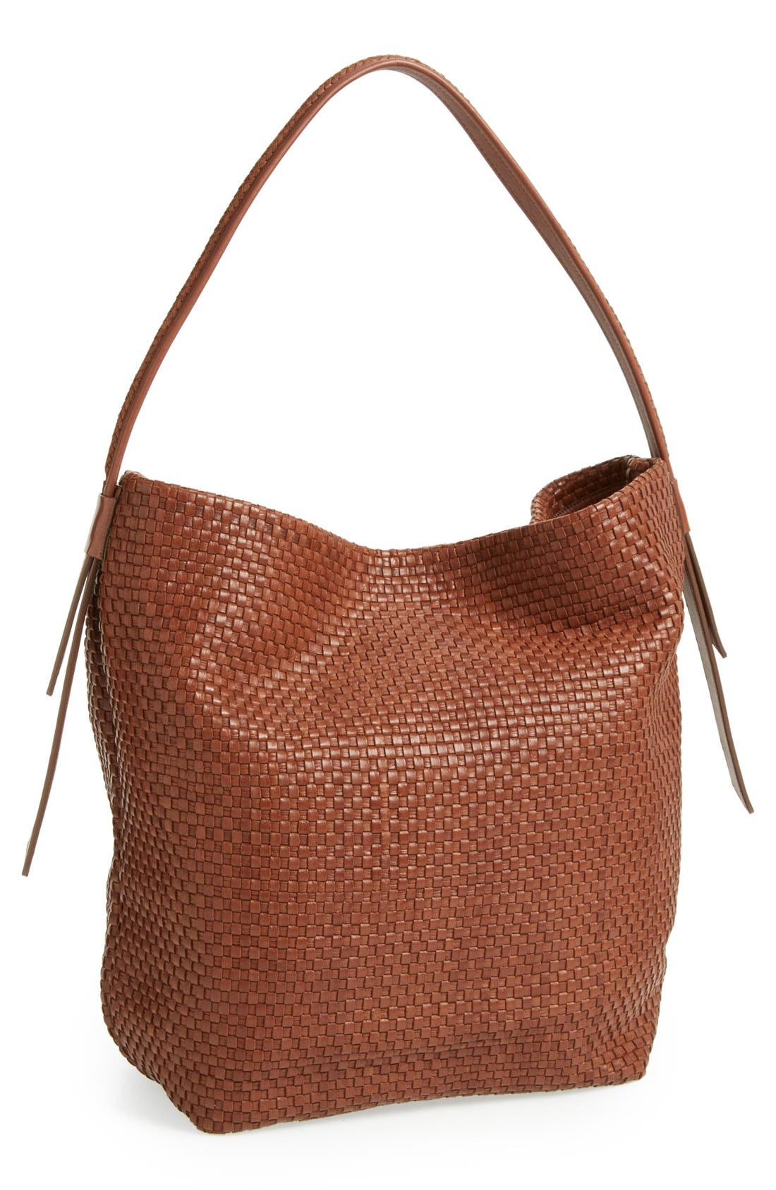 Alternate Image 1 Selected - Cole Haan 'Bethany - Large' Woven Leather Hobo