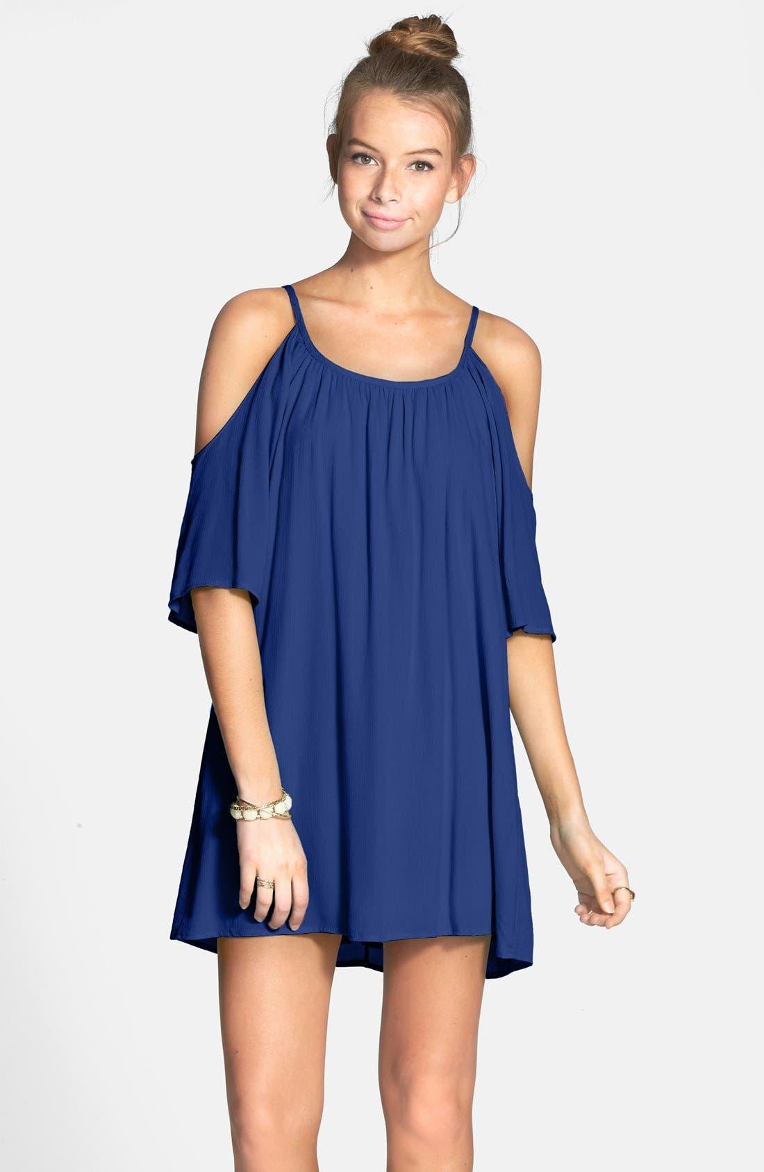 Main Image - dee elle Cold Shoulder Dress (Juniors)