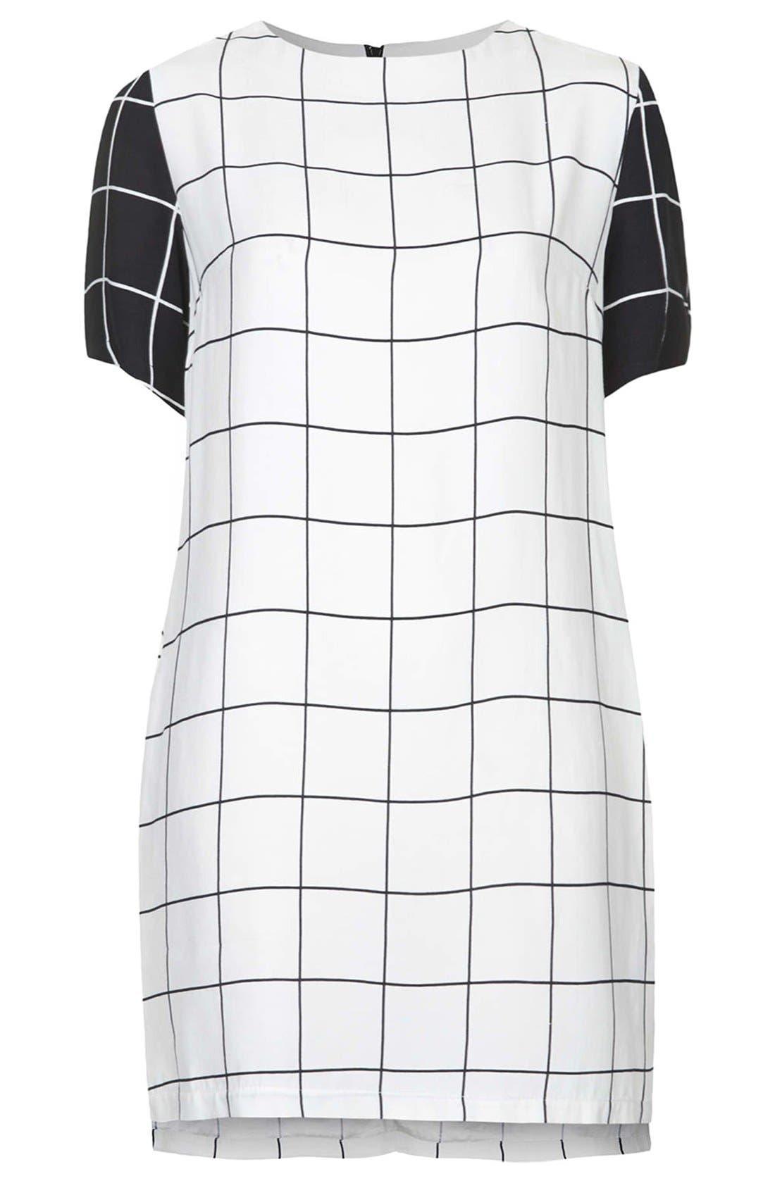 Alternate Image 3  - Topshop Grid Print Tunic Dress