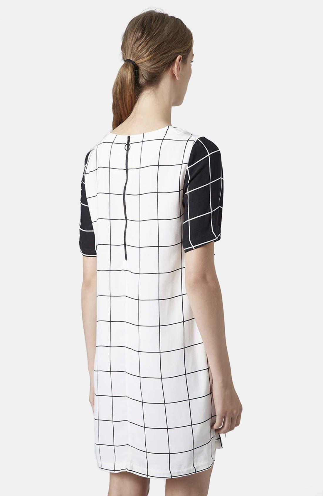 Alternate Image 2  - Topshop Grid Print Tunic Dress